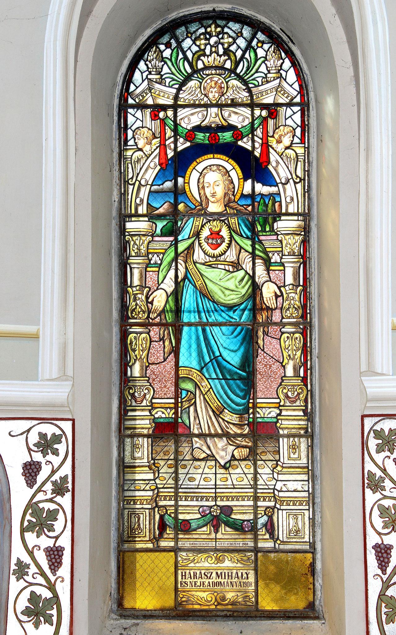 Glasfenster  Herz Maria