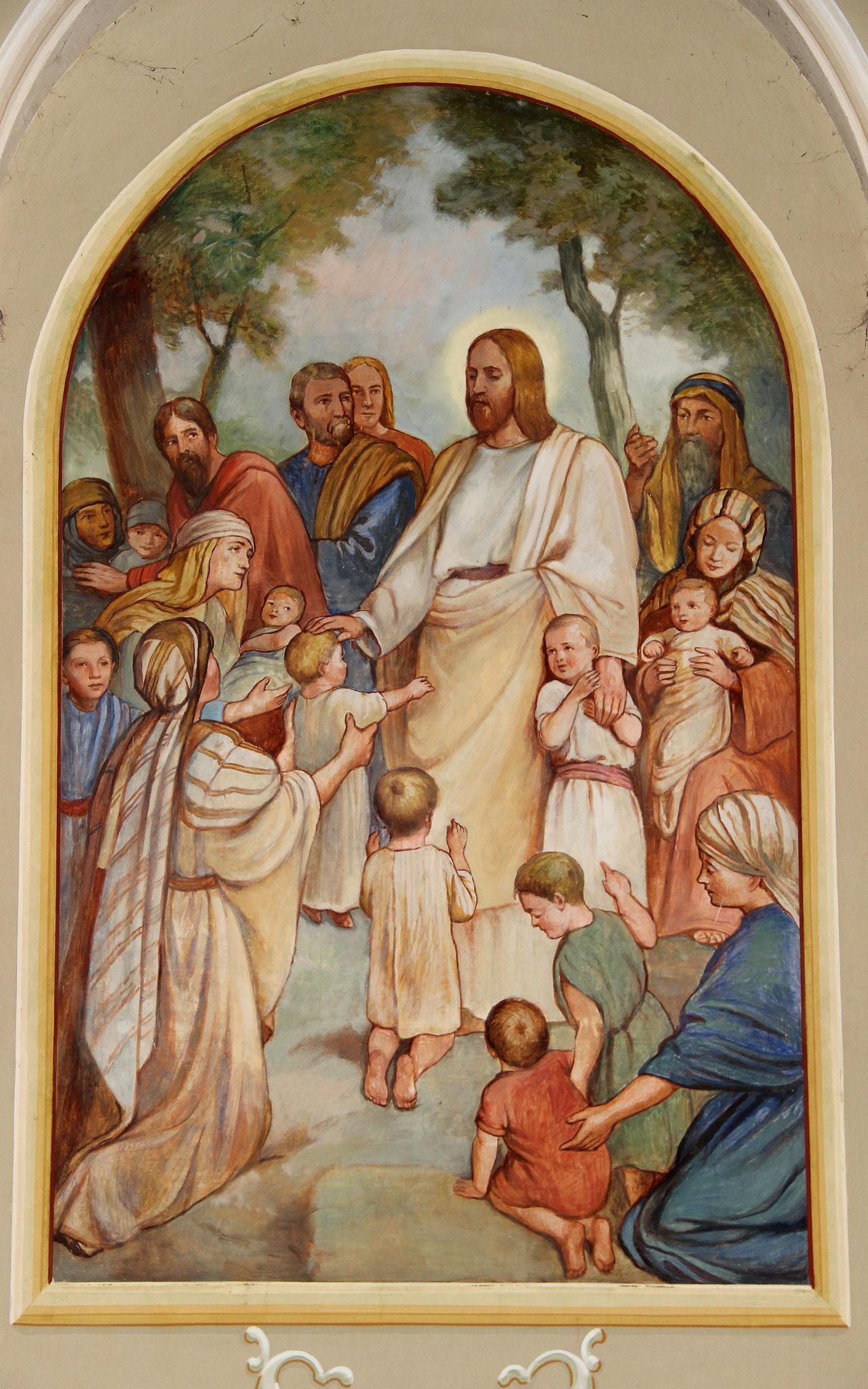 Jesus segnet Kinder (Jesus der Kinderfreund)