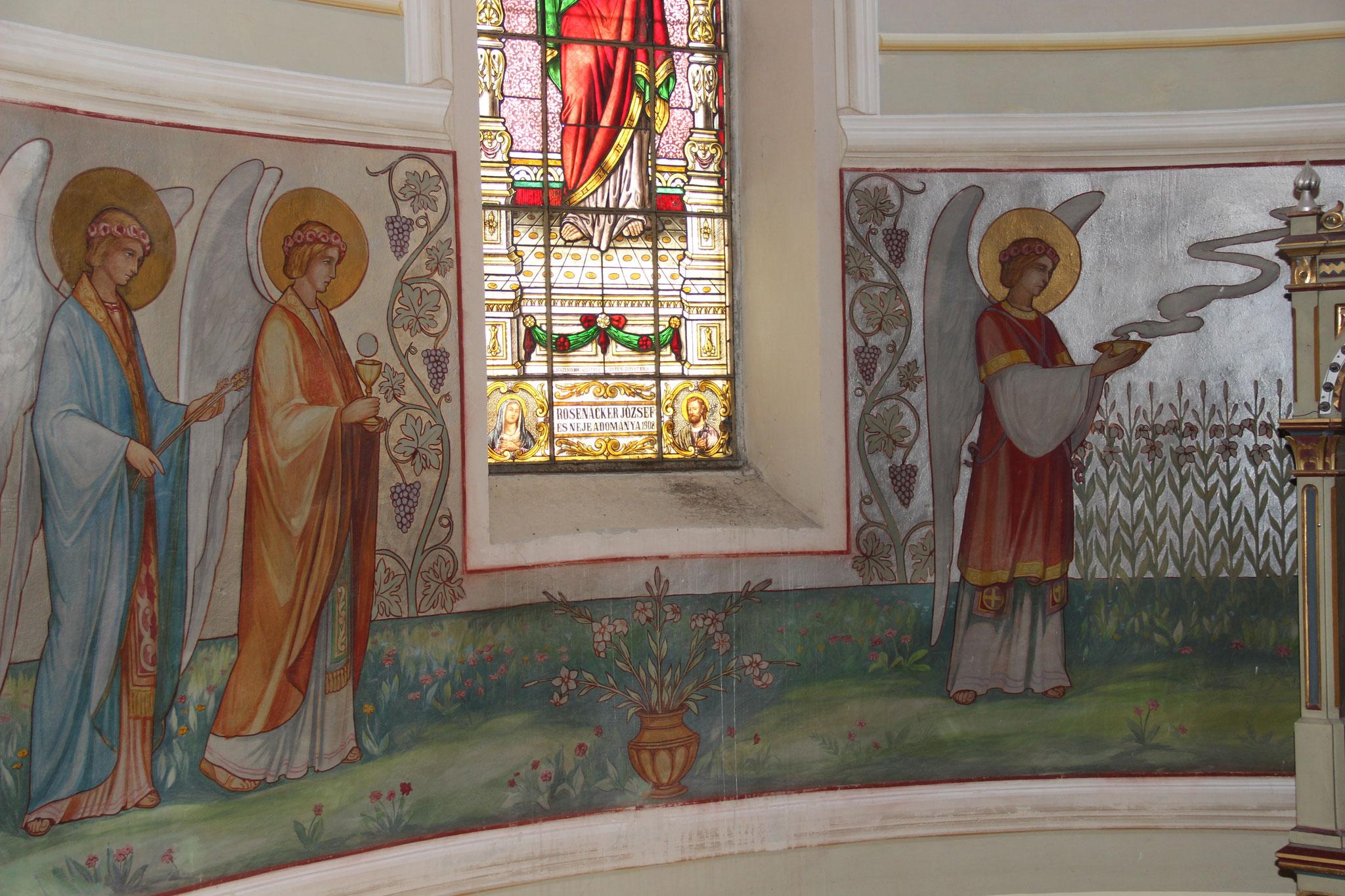Wandmalerei im Altarraum