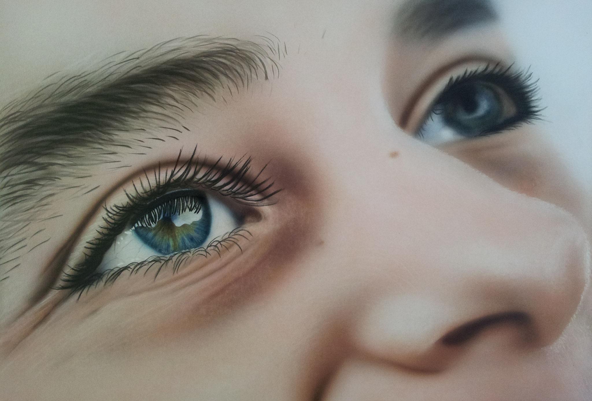 """""""Augenblick"""" Airbrushkarton ca. 36 x 25 cm"""