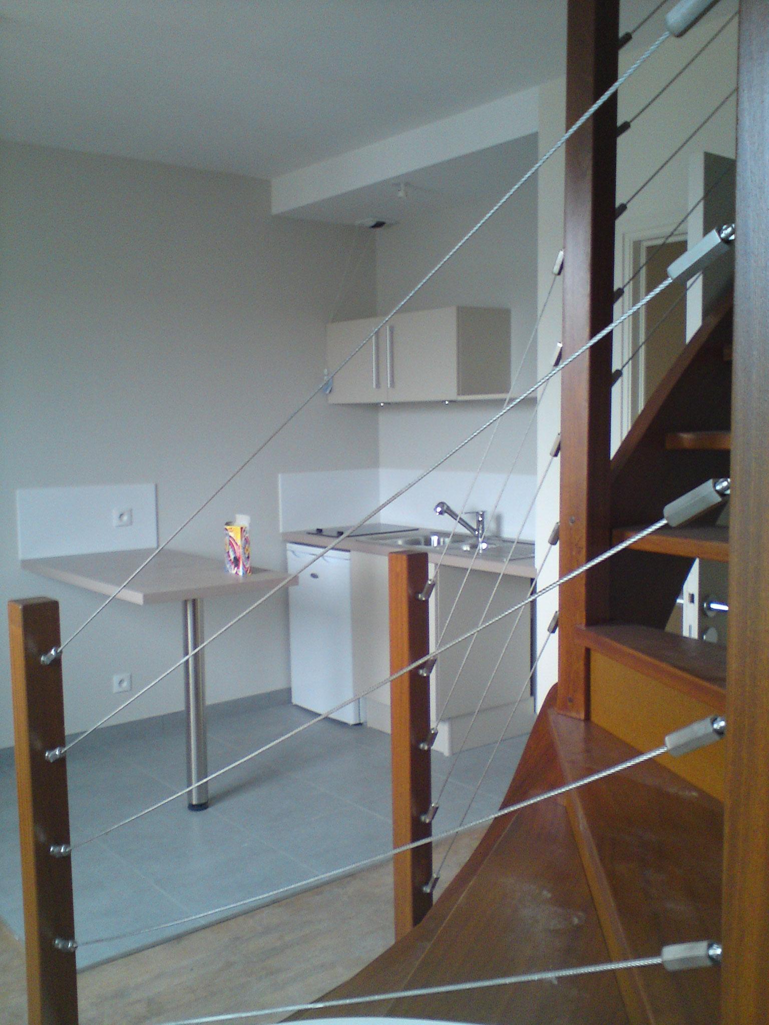 Travaux de transformation d'un grenier en 3 appartements avec mezzanine à AMIENS. Mission de Maîtrise d'oeuvre tout corps d'états.