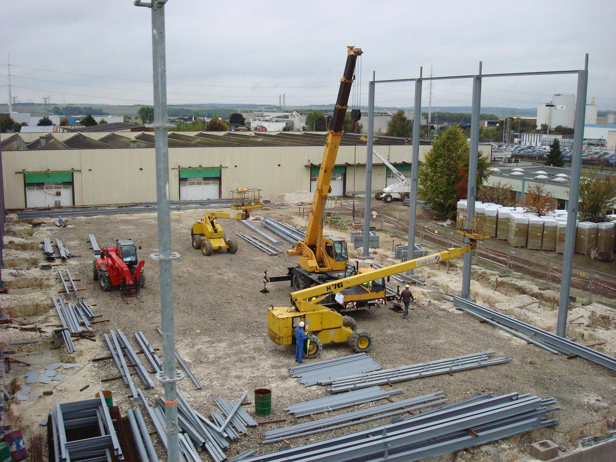 Extension d'une usine ZI Nord à AMIENS. Mission de Niveau 2.
