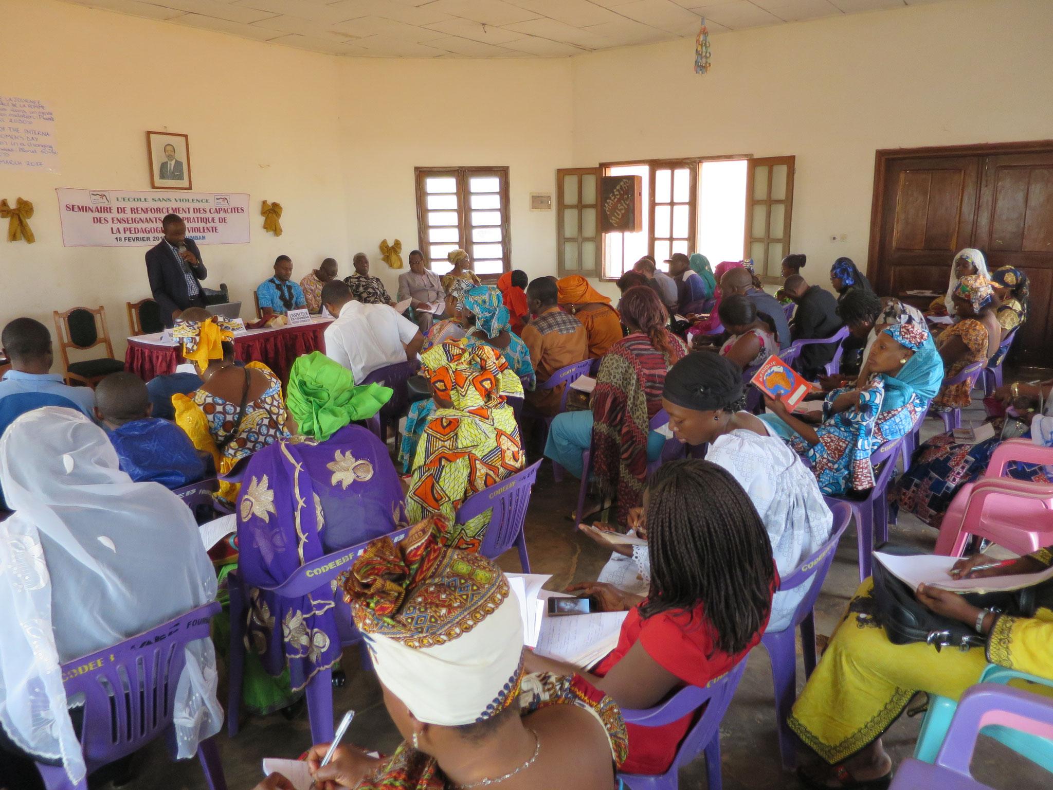 Séminaire de renforcement des capacités des enseignants à la pratique de la pédagogie non-violente et de la discipline positive