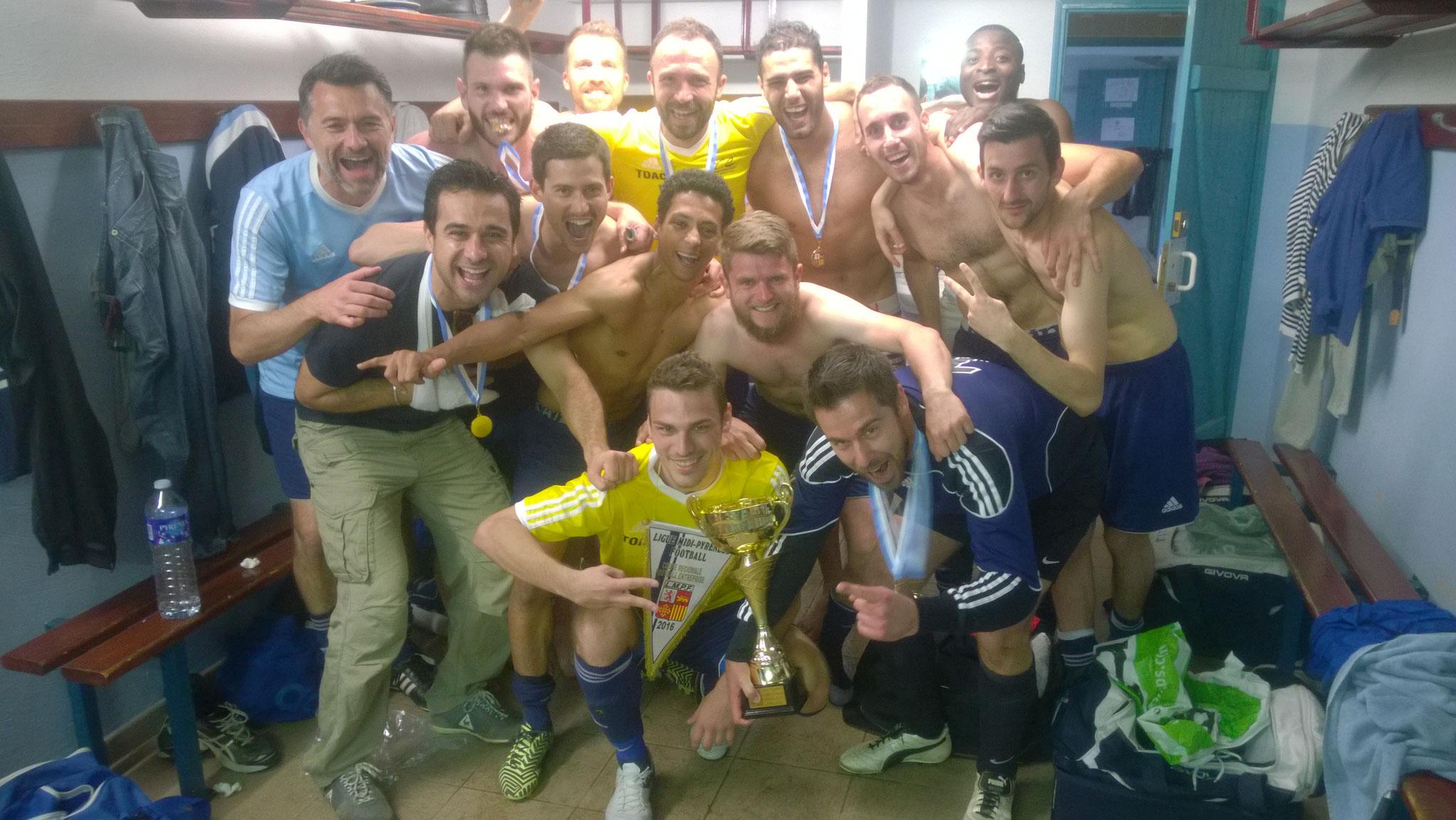 2015-2016 - Vainqueur de la coupe régionale / Victoire 3 - 0 contre Les Municipaux de Toulouse