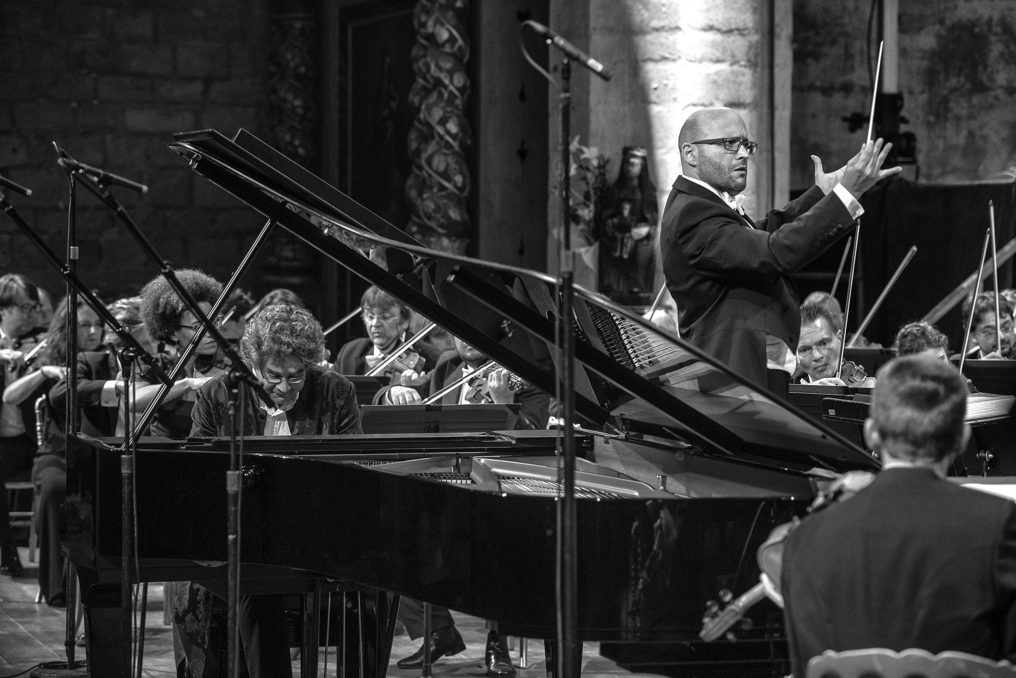 Festival de la Chaise-Dieu. Concert d'ouverture 2016, direction Enrique Mazzola. © Vincent Jolfre