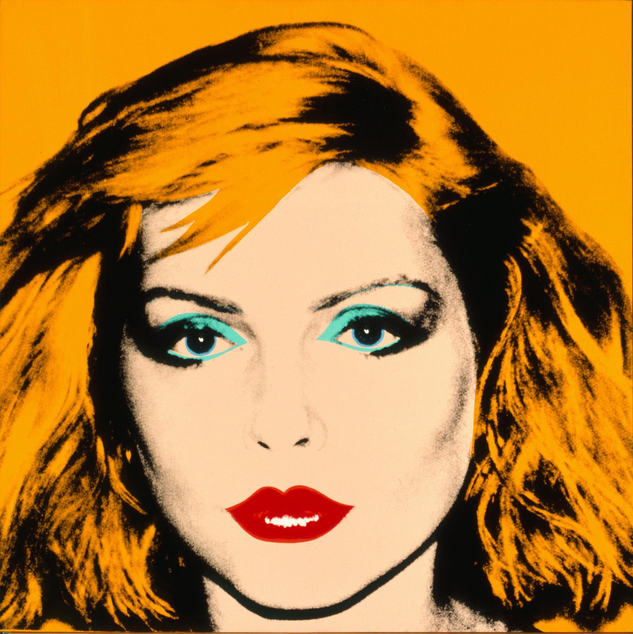 ANDY WARHOL. EL ARTE MECÁNICO. Debbie Harry. 1980. Acrílico y serigrafía sobre lino. Collection of the Andy Warhol Museum, Pittsburgh
