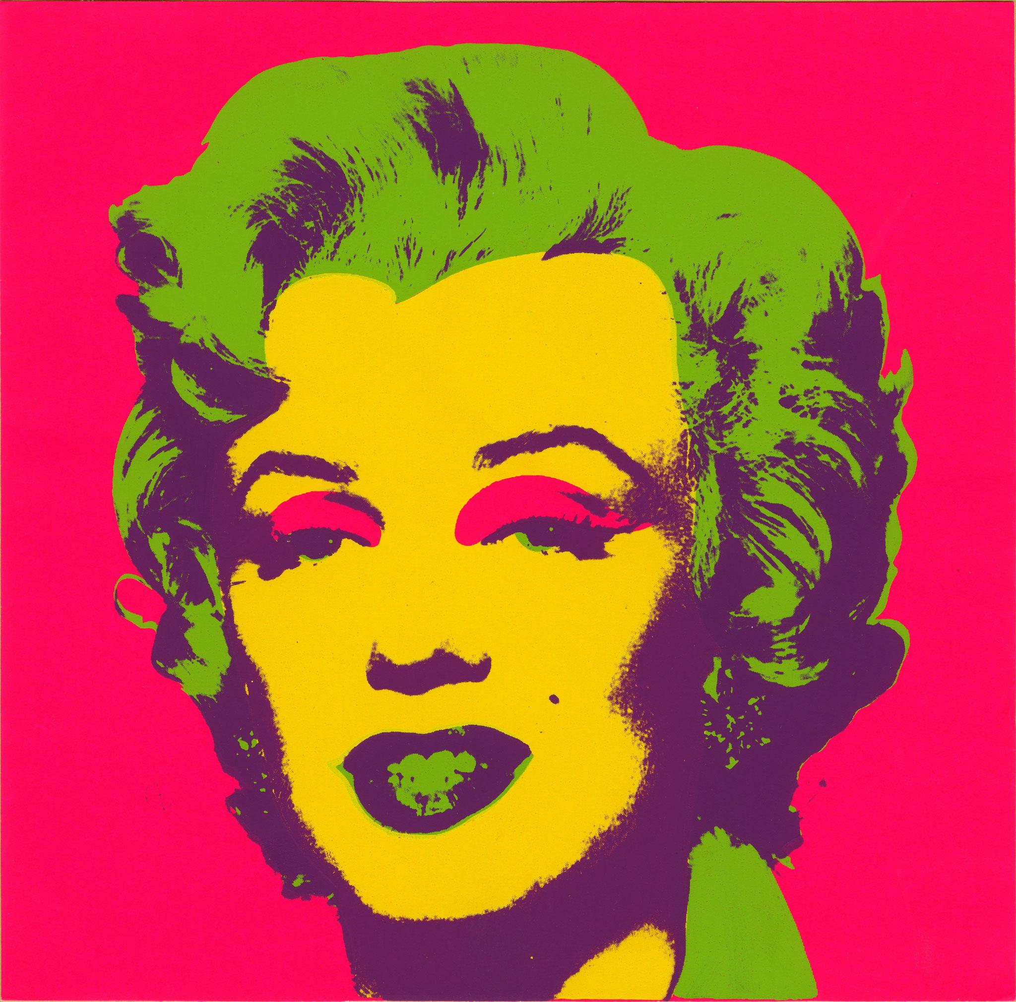 ANDY WARHOL. EL ARTE MECÁNICO. Marilyn Print. 1967. Seríagrafía sobre papel. Collection of the Andy Warhol Museum, Pittsburgh