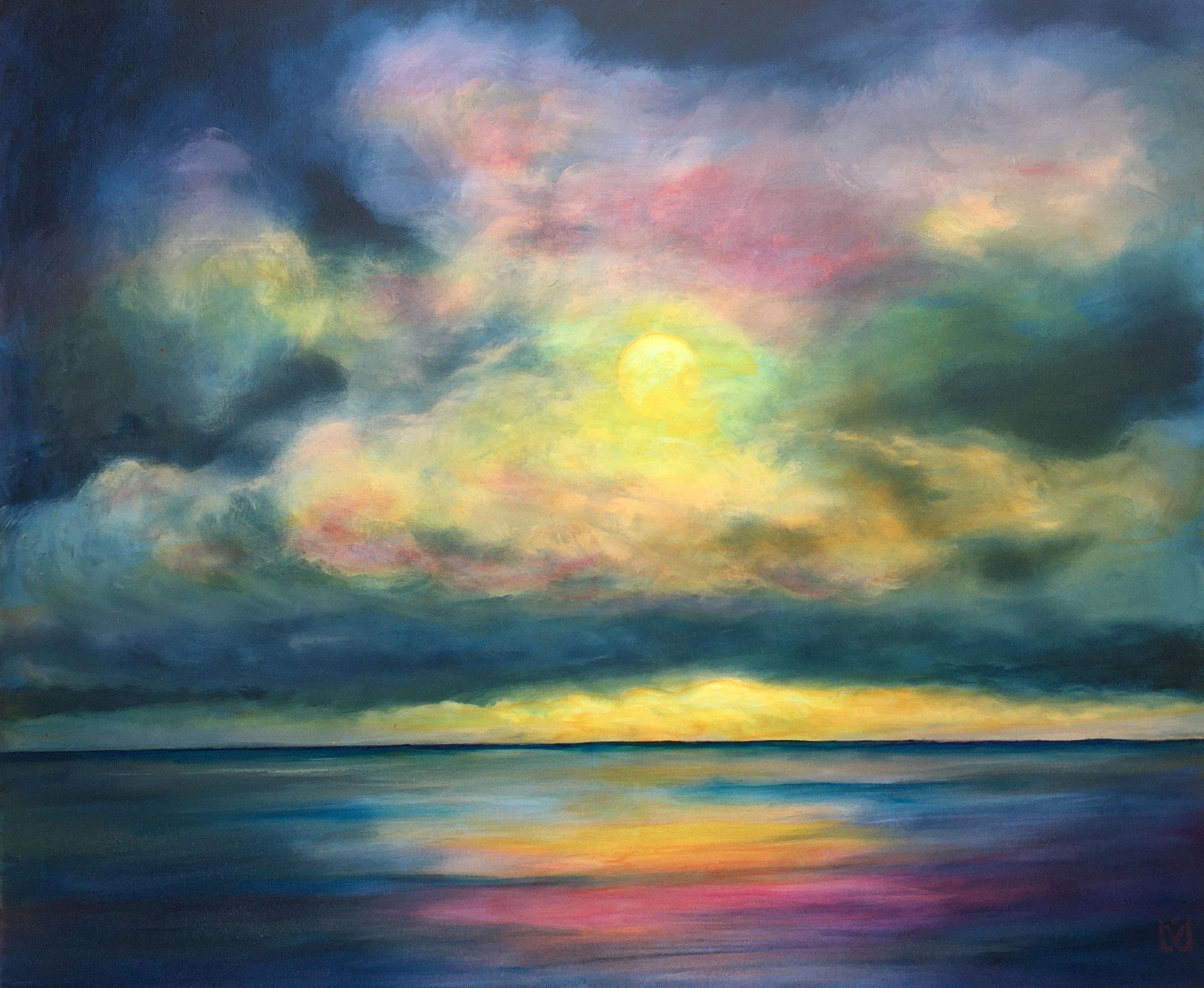 moonlight-rhapsody 90 x 110 cm Acryl auf Leinwand, reserviert