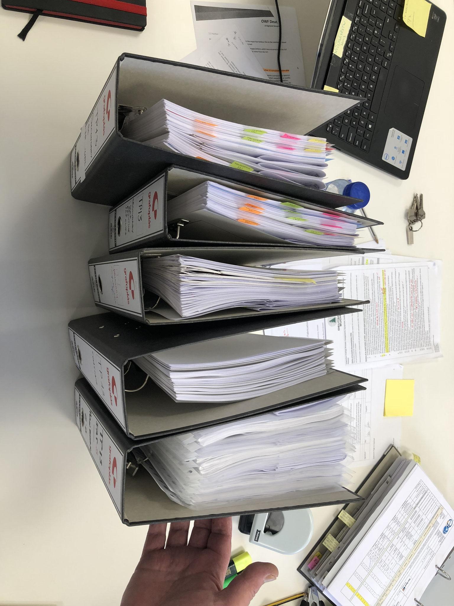 Dokumentencontrolling sortiert nach Bauteilen