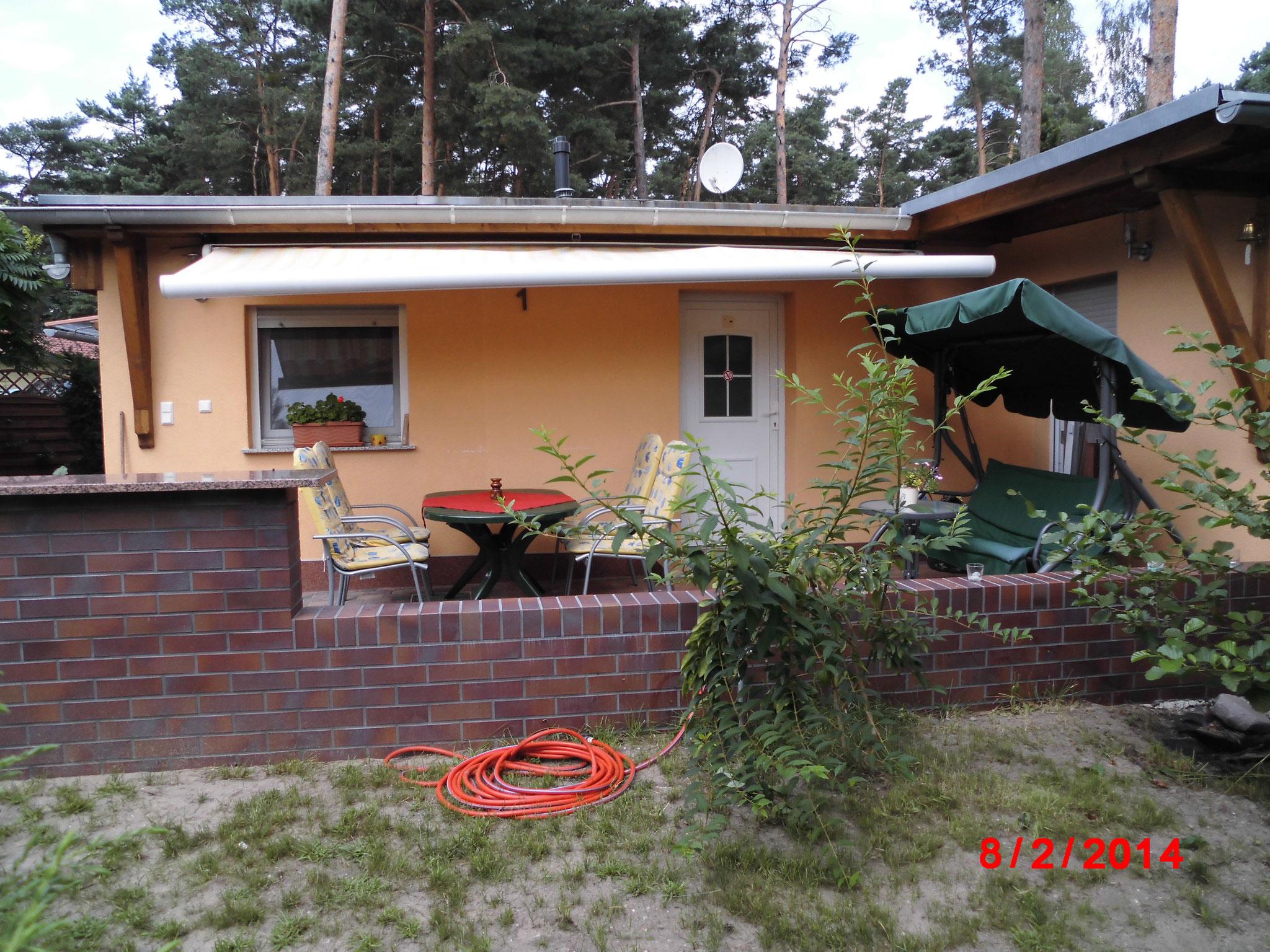 Blick zur Terrasse Haus 1