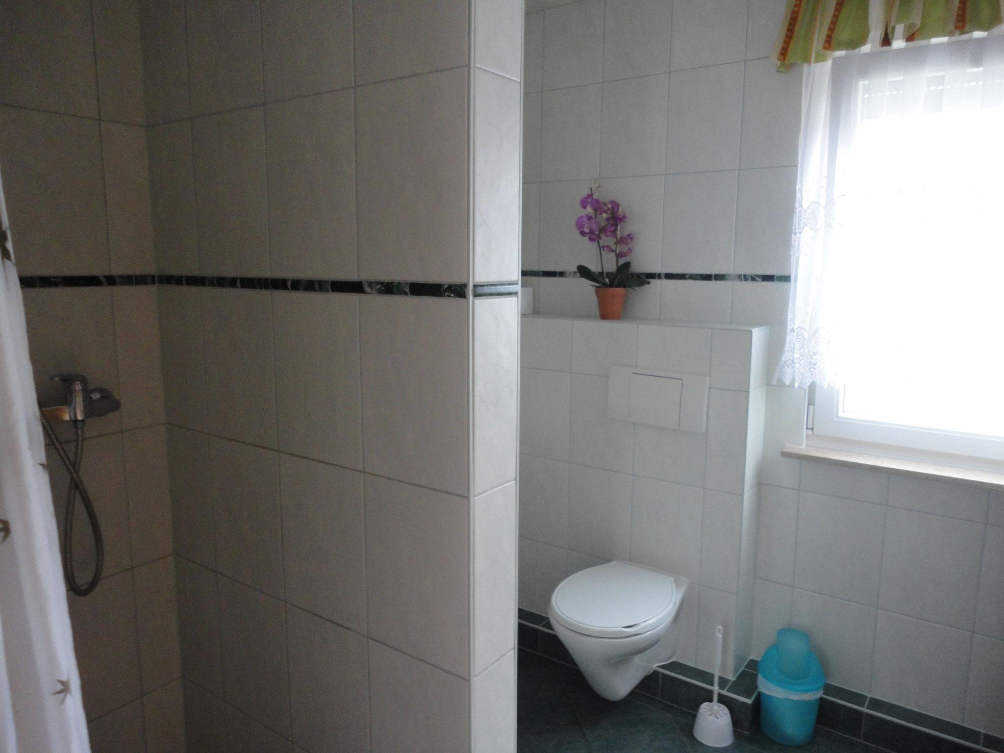 Bad mit WC und Dusche Haus 61