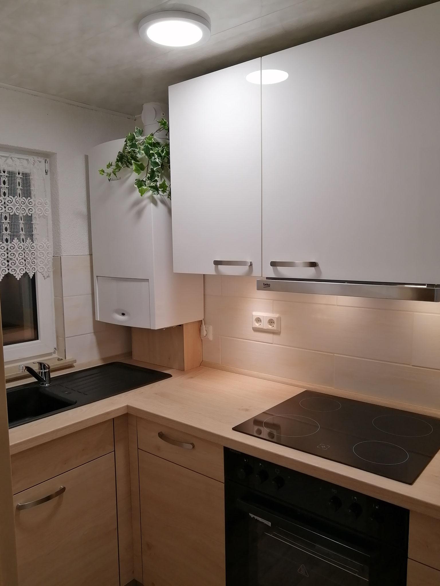 Komplett neu eingerichtete Küche