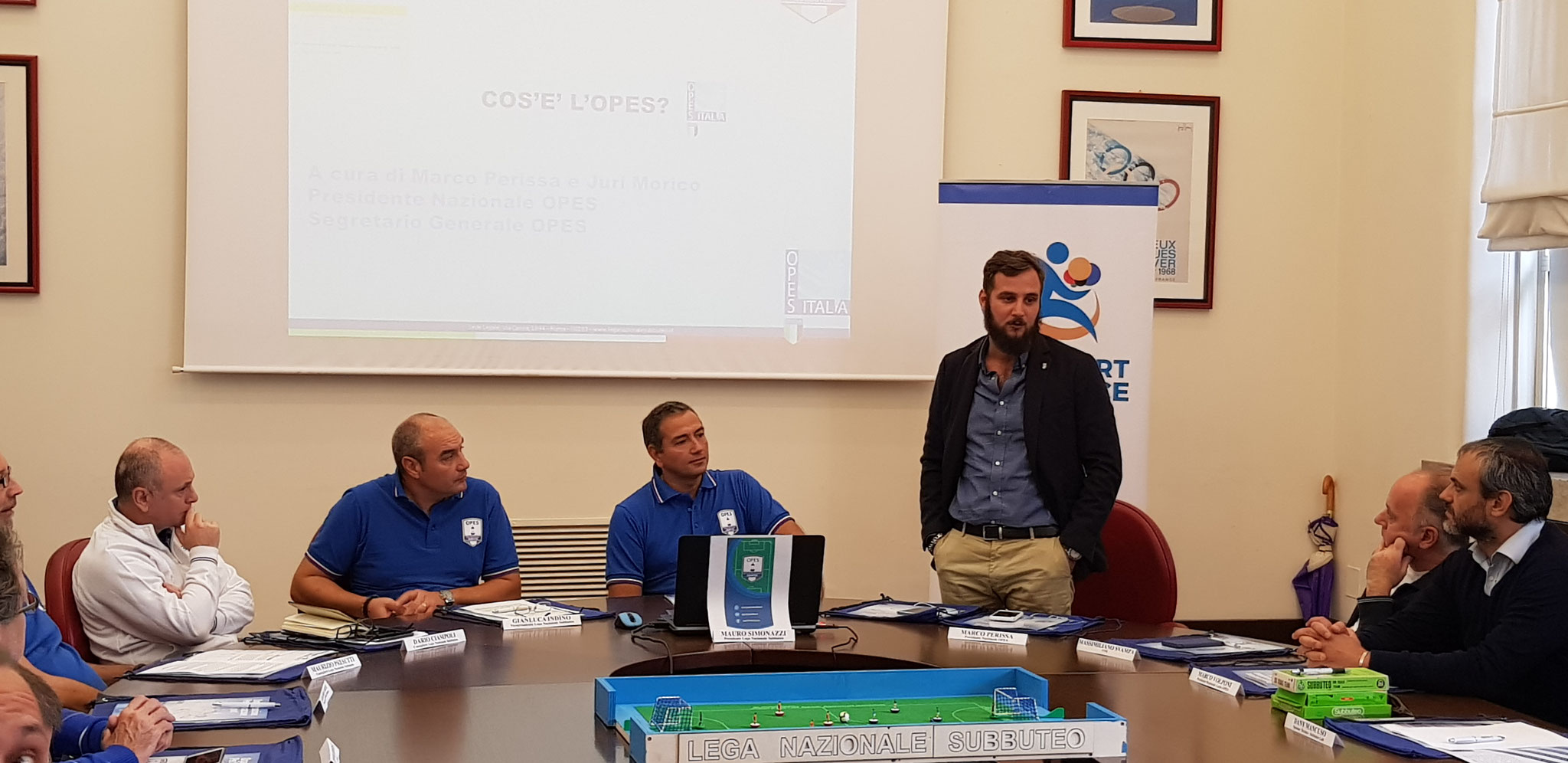 Il Presidente OPES Marco Perissa interviene alla Presentazione