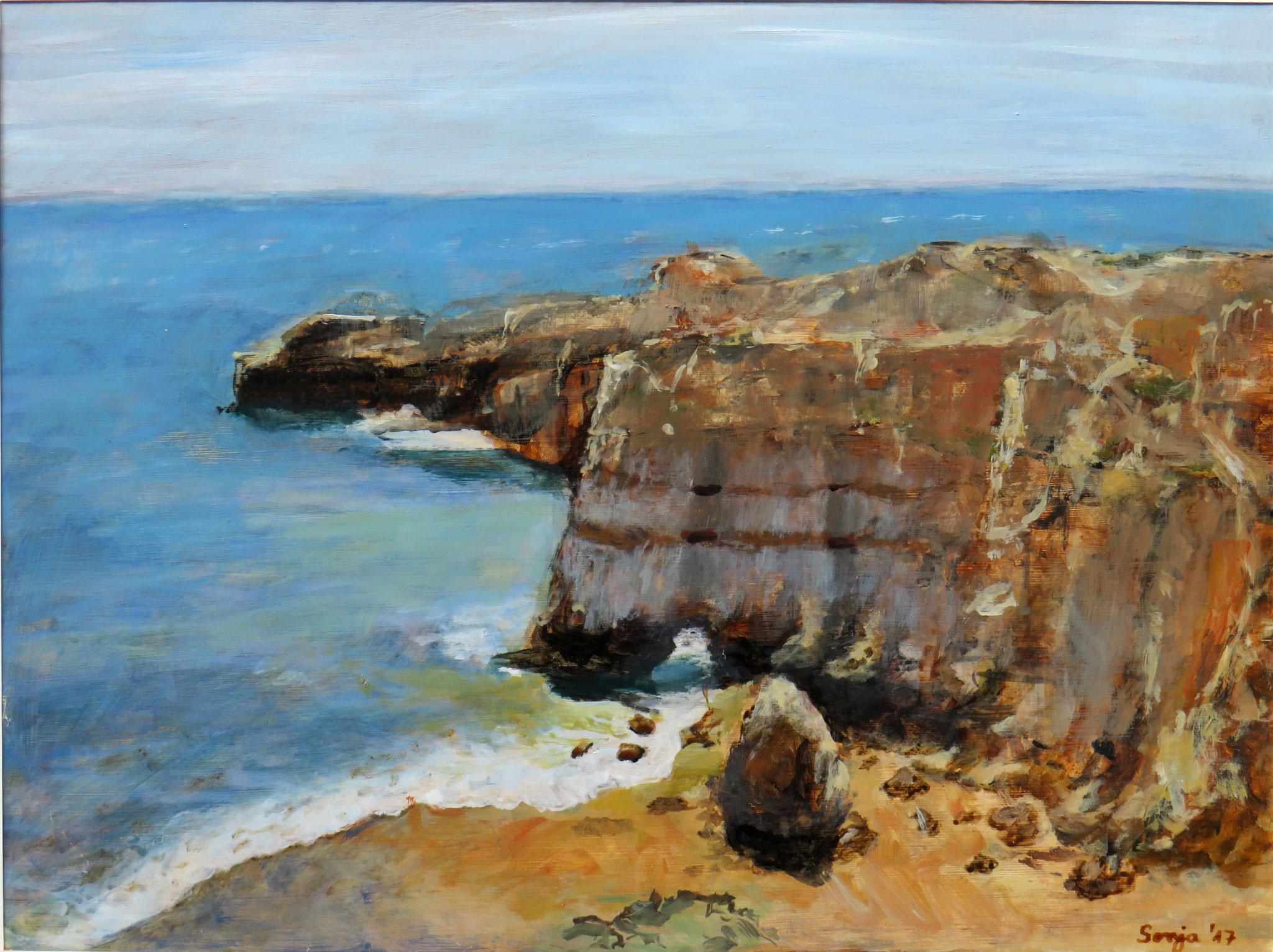 """Algarve"", Acryl auf Hartfaser, 30 x 40 cm"