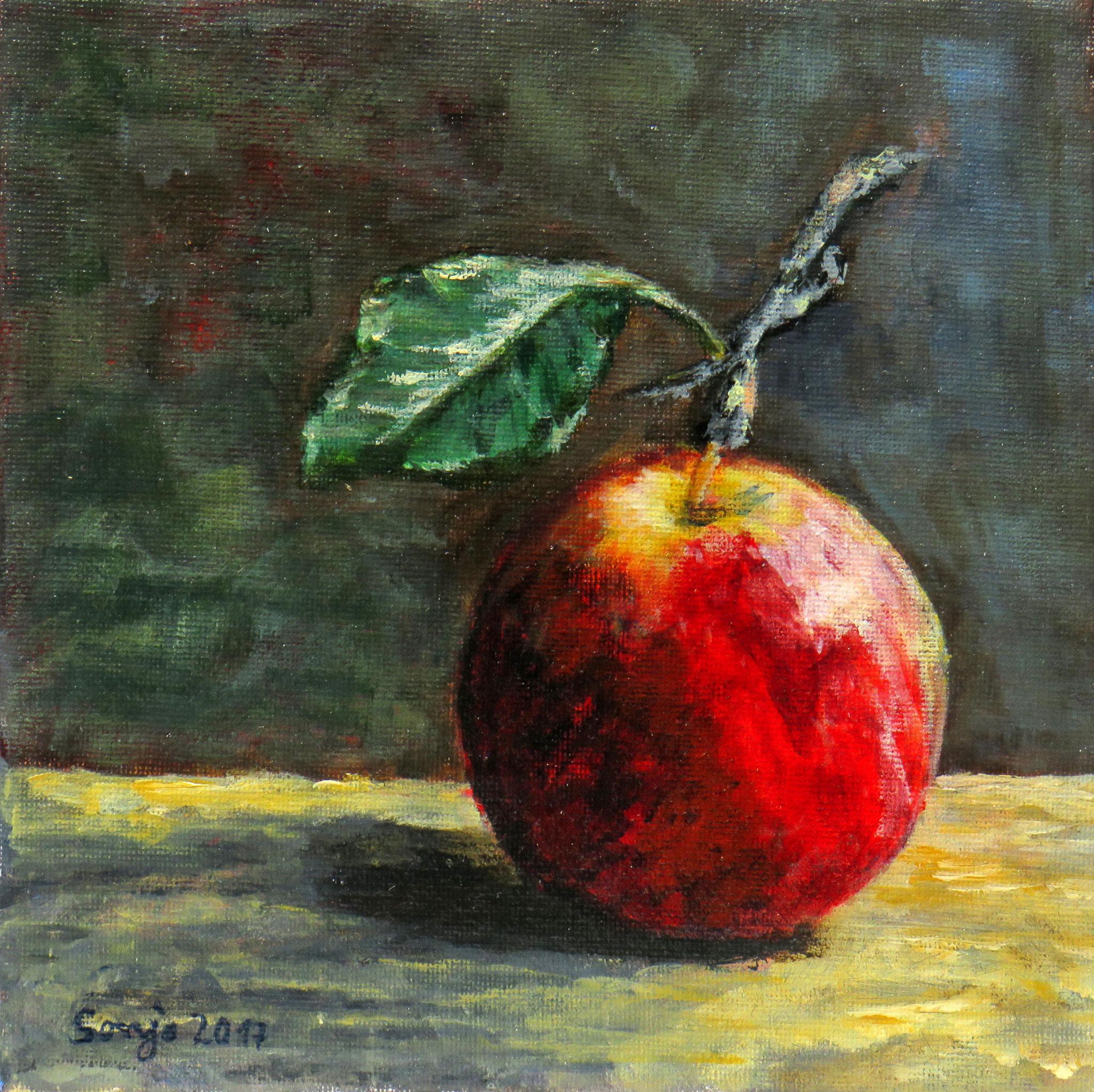 """""""Apfel"""", Acryl auf Leinwand, 20 x 20 cm"""