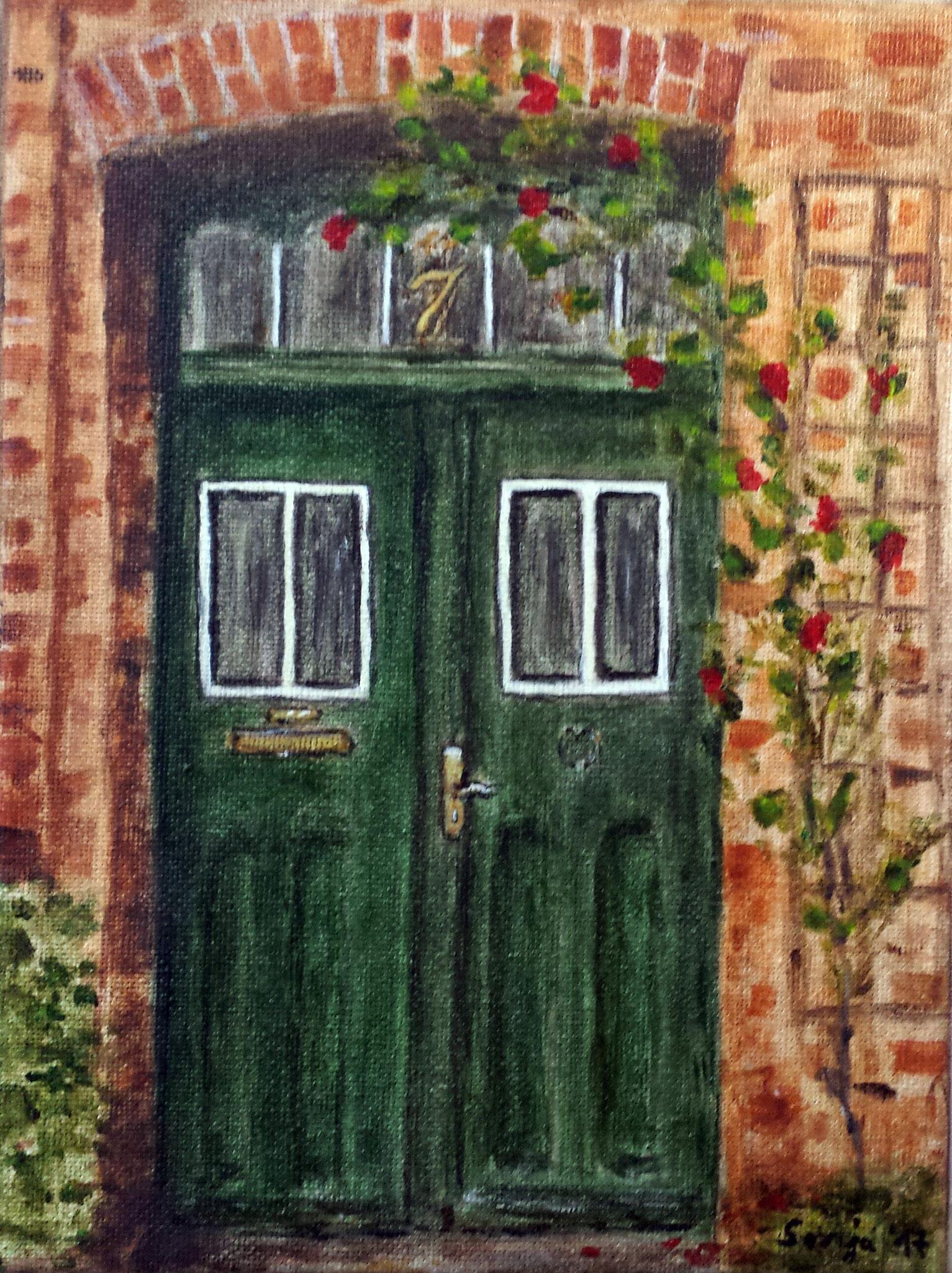 """""""Haus Nr.7"""", Acryl auf Leinwand, 18 x 24 cm"""