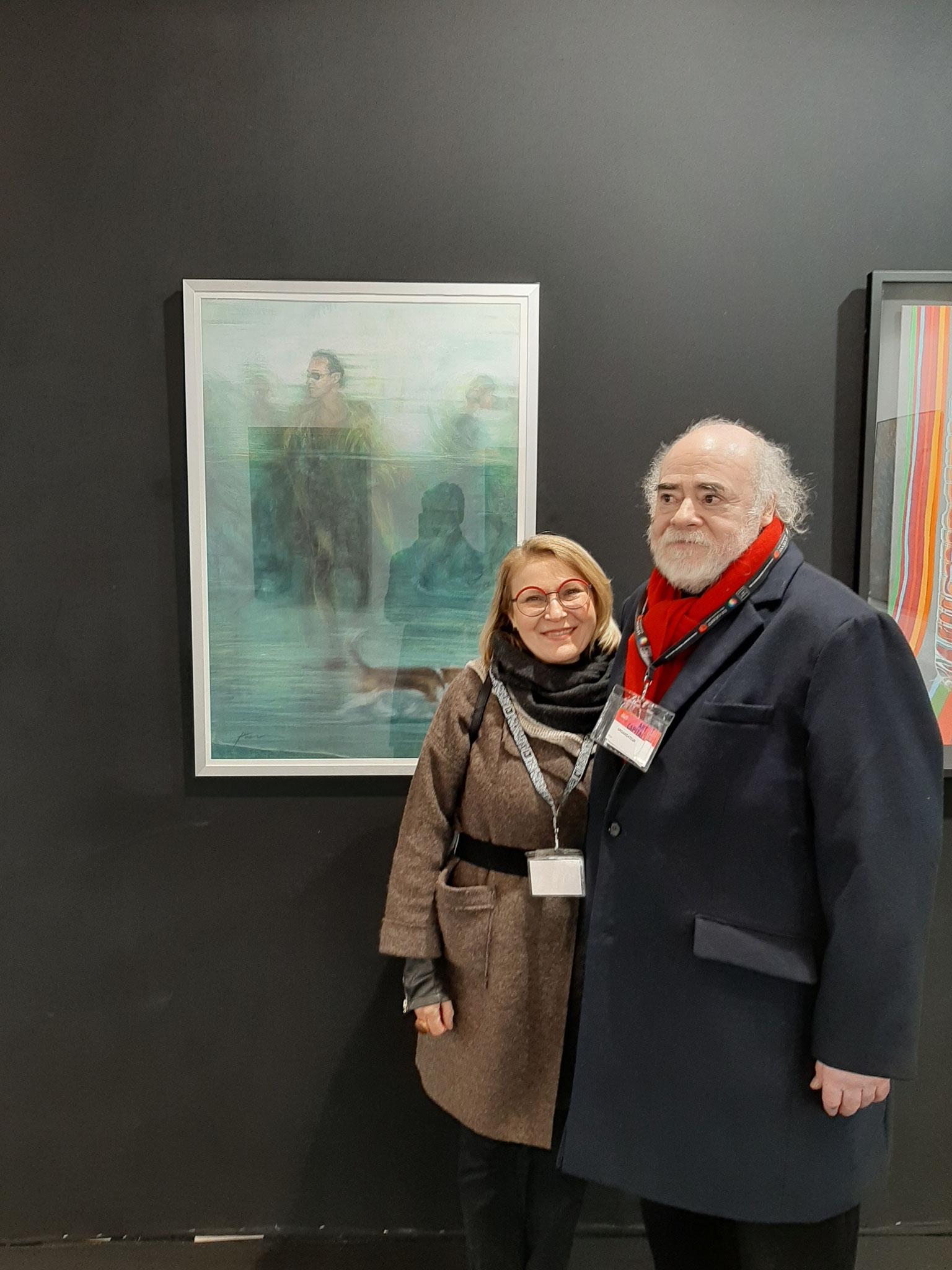 Daniel GALAIS Artiste peintre exposant et Président de cette exposition