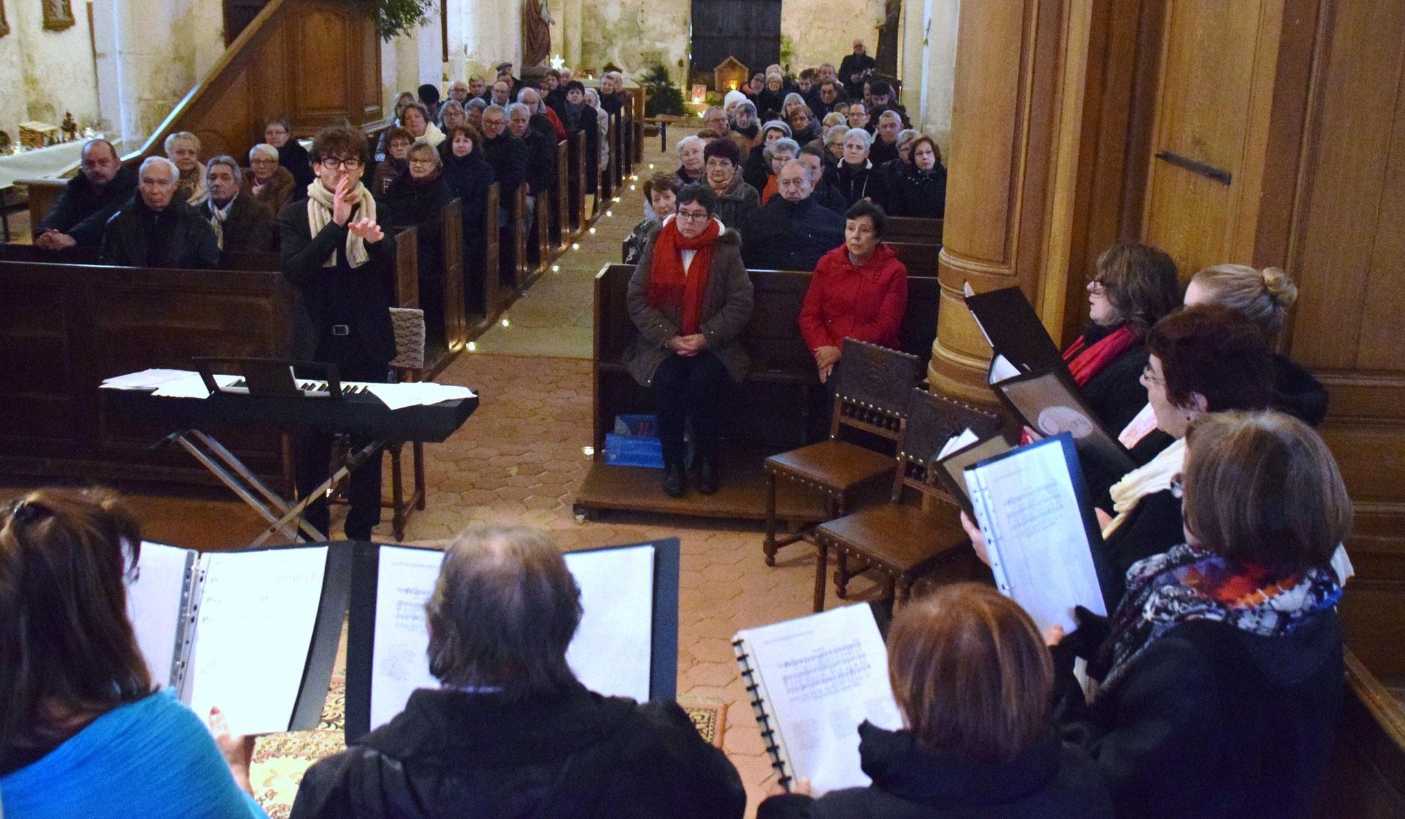 Le public est venu nombreux en l'église Saint-Martin.