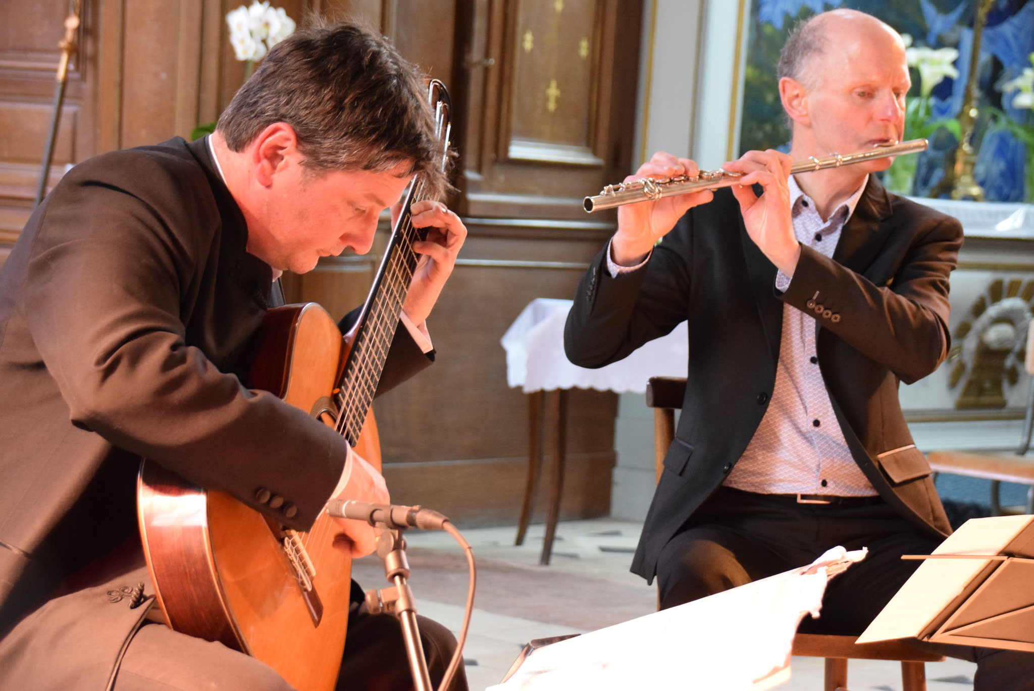 Le Duo SEMPLICE : Frédéric Bernard et Bertrand Côte.