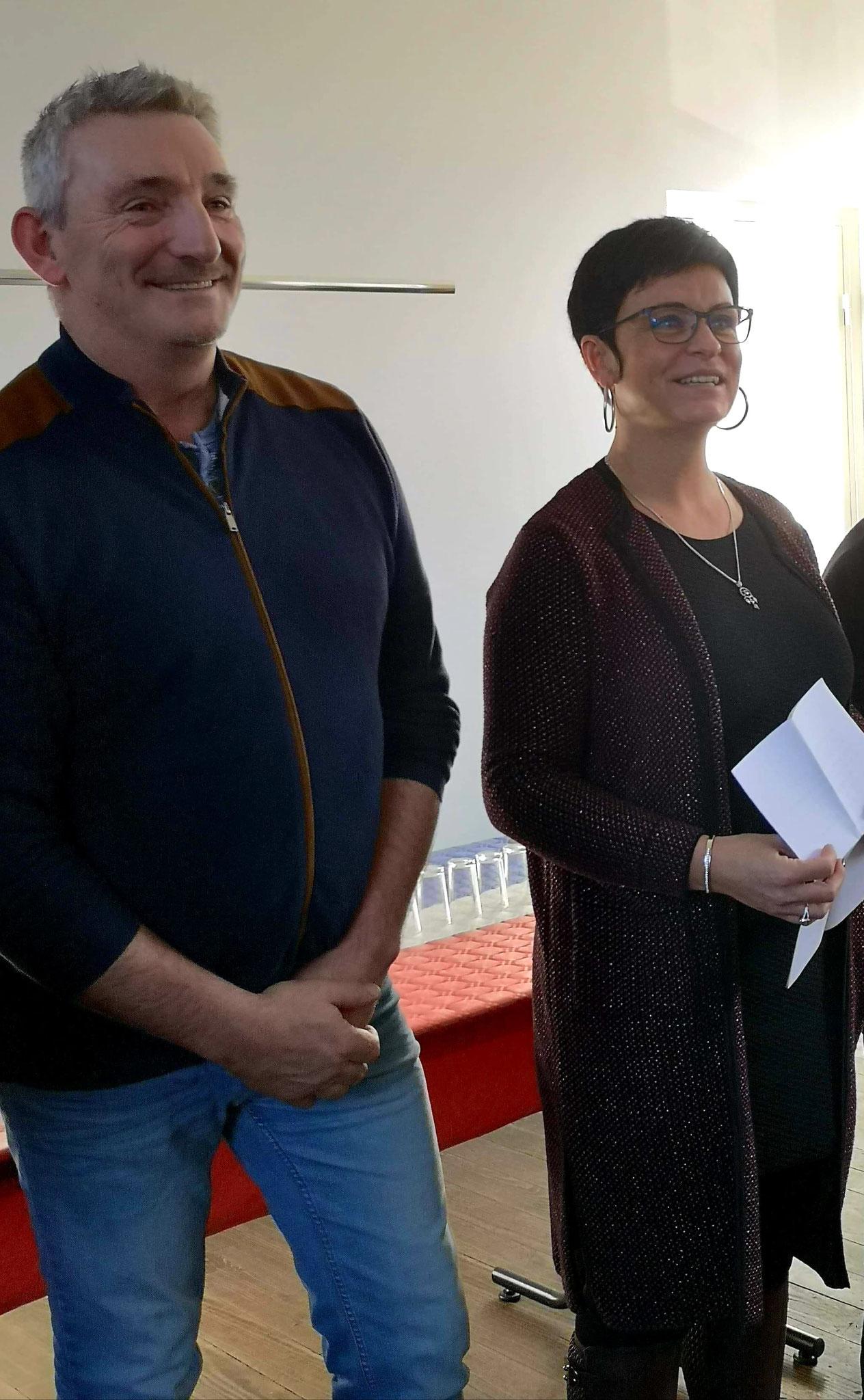 De gauche à droite : Jean-Michel Zatwarnicki, premier adjoint, et Gaëlle Vaudé.