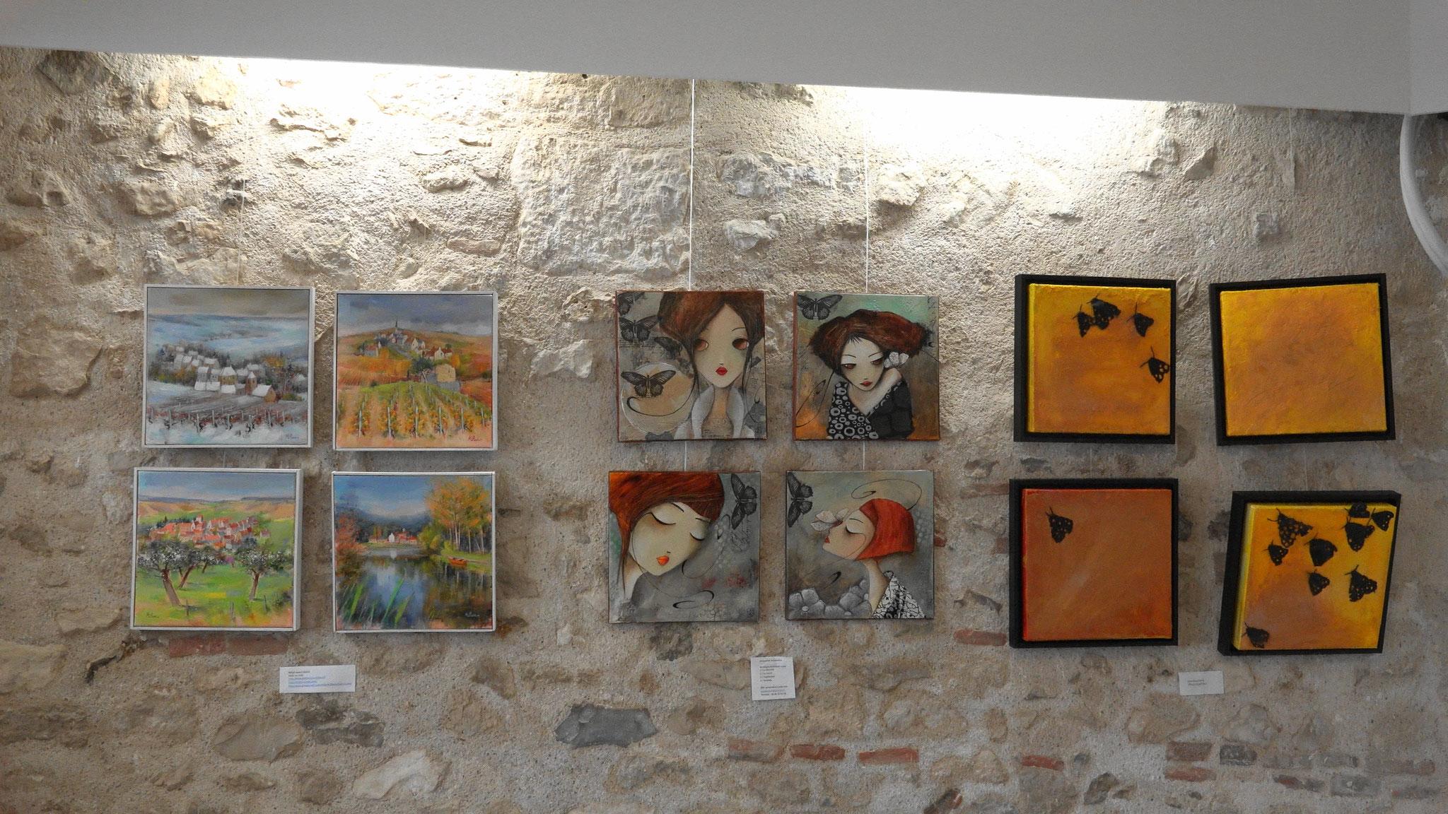 Un format unique : Condé au carré à l'Artothèque-galerie Valérie Najand.