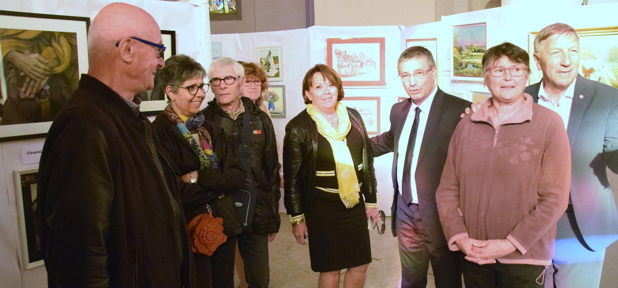 A gauche : Jacques Rollinet. Au centre : Michèle Fuselier, avec à sa gauche : Nicolas Fricoteaux. A droite : Jacques Krabal.