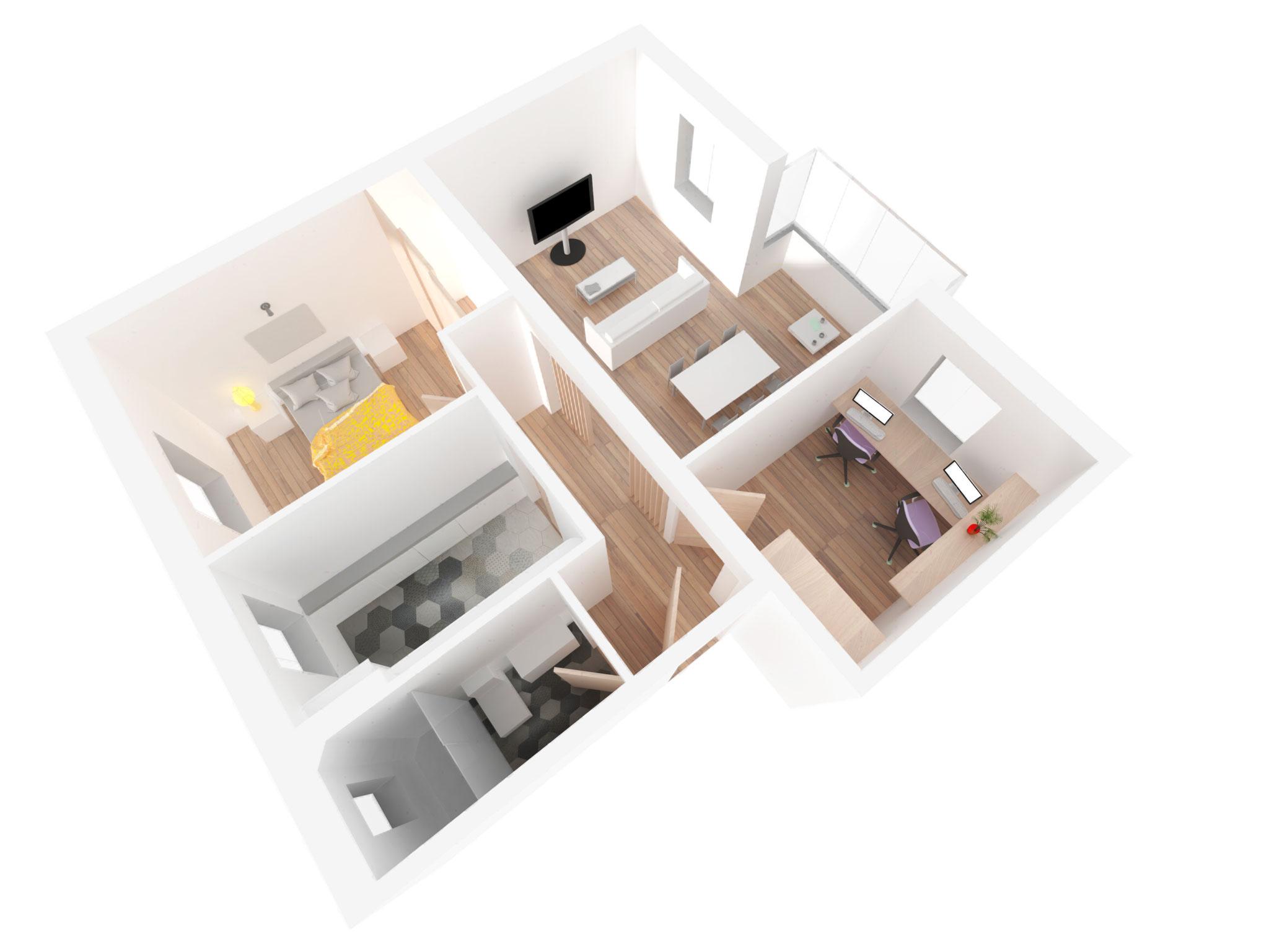 Proyecto reforma piso en Madrid