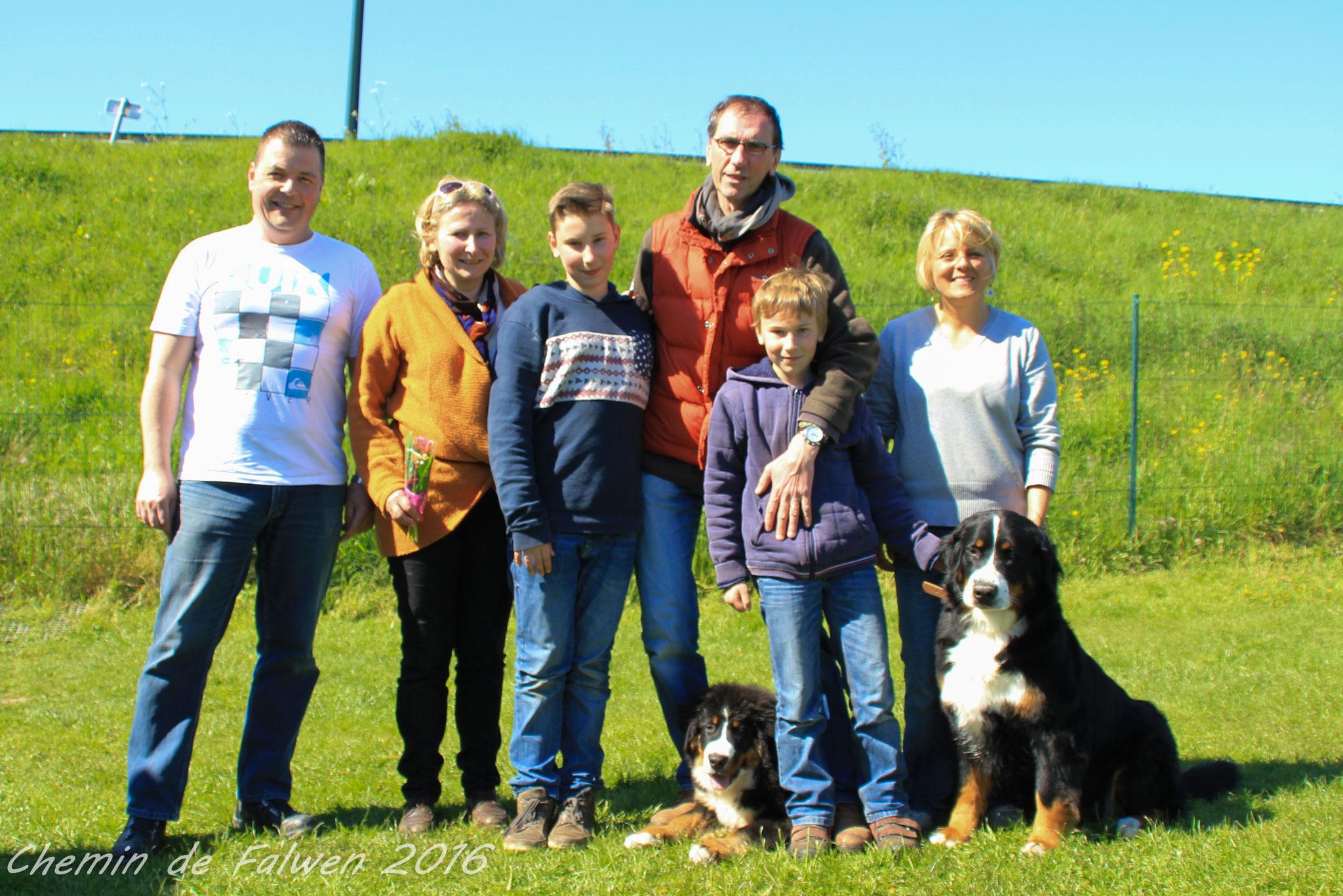 O'Falco et sa famille