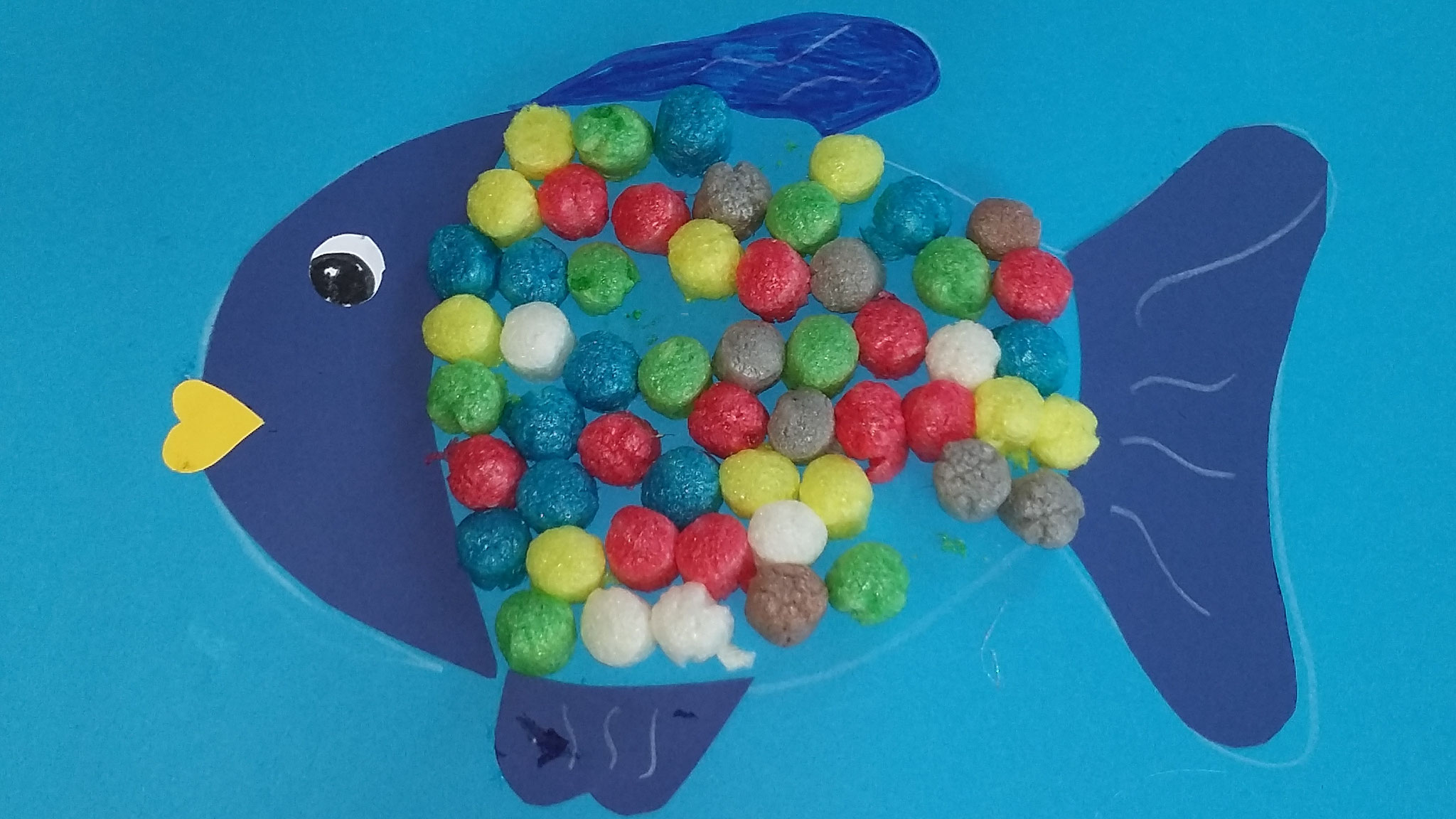 Regenbogenfisch... aus Playmais