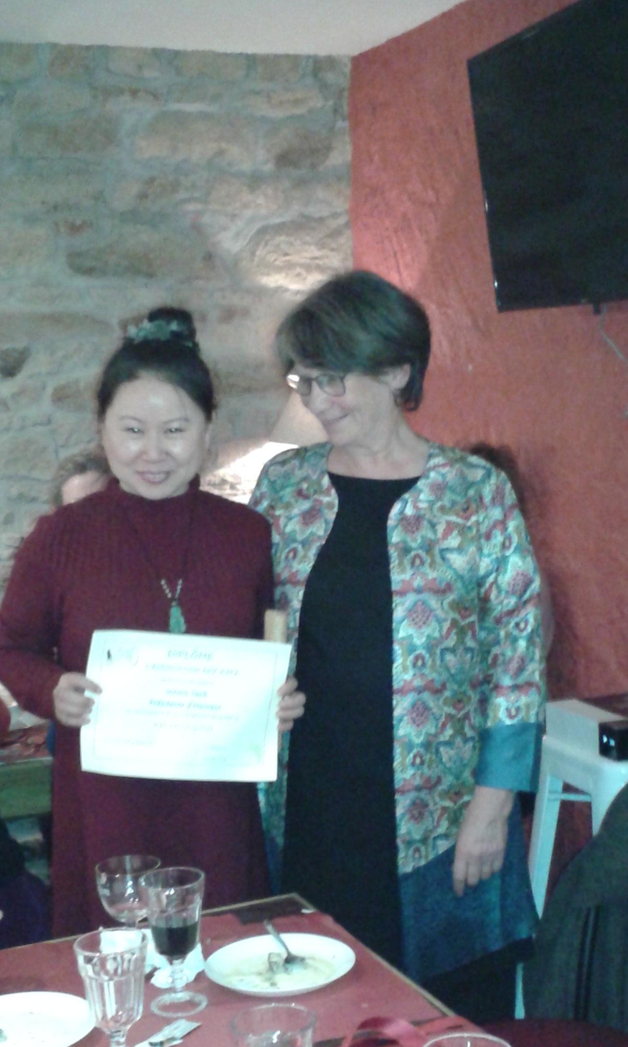 Yanli reçoit son titre de présidente d'honneur d'Arzame - novembre 2016