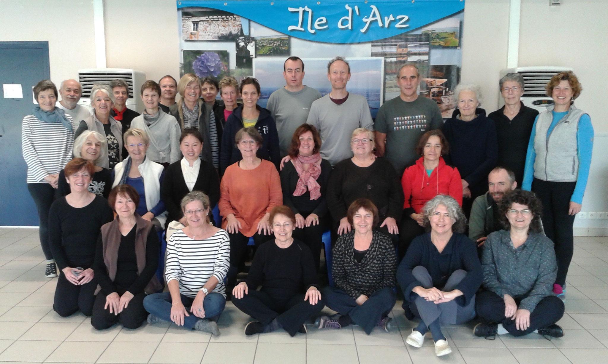 le groupe de stagiaires -île d'Arz - novembre 2016