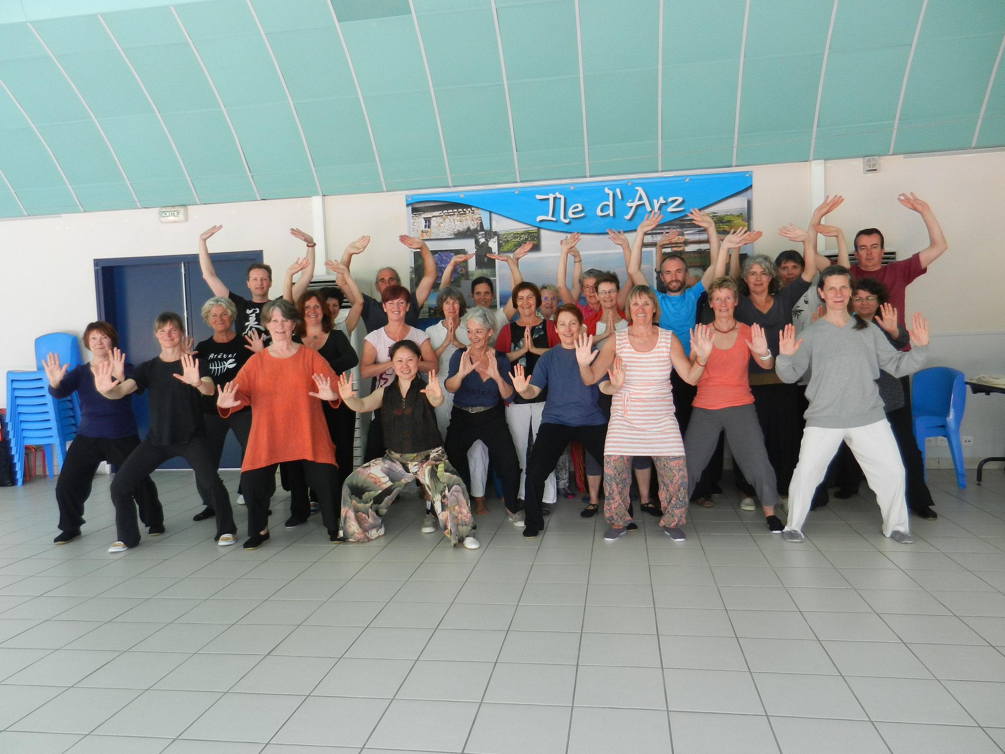 mai 2016 - stage à l'île d'Arz avec Yanli