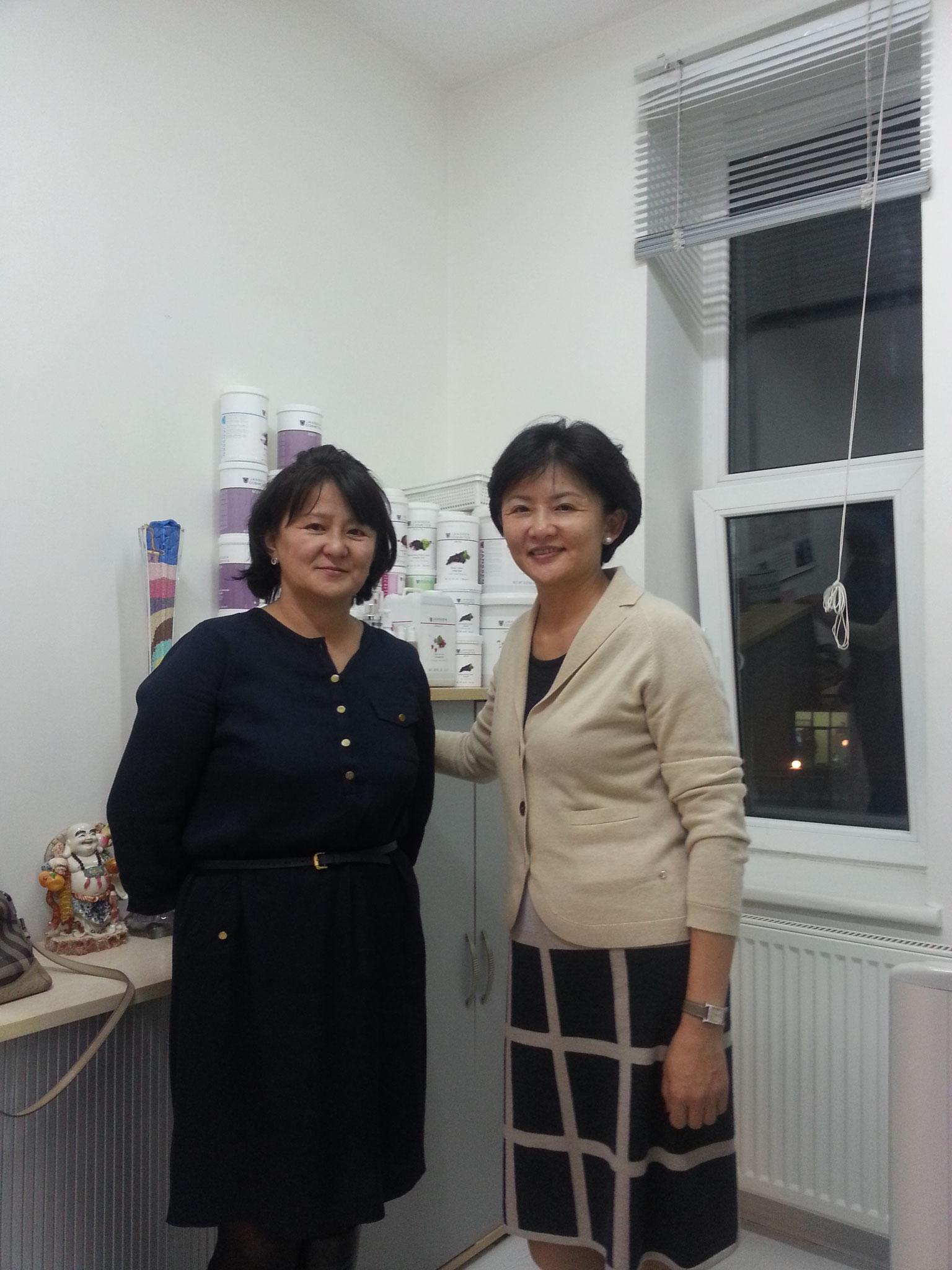 Mrs Munkhsurens and sister