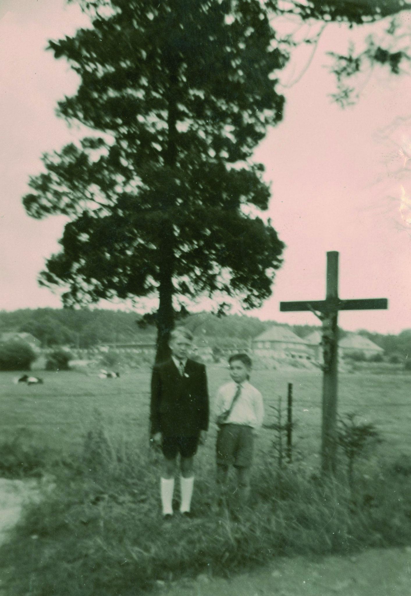 Mit Reinhard Kleebank an der Kaiserallee 1957