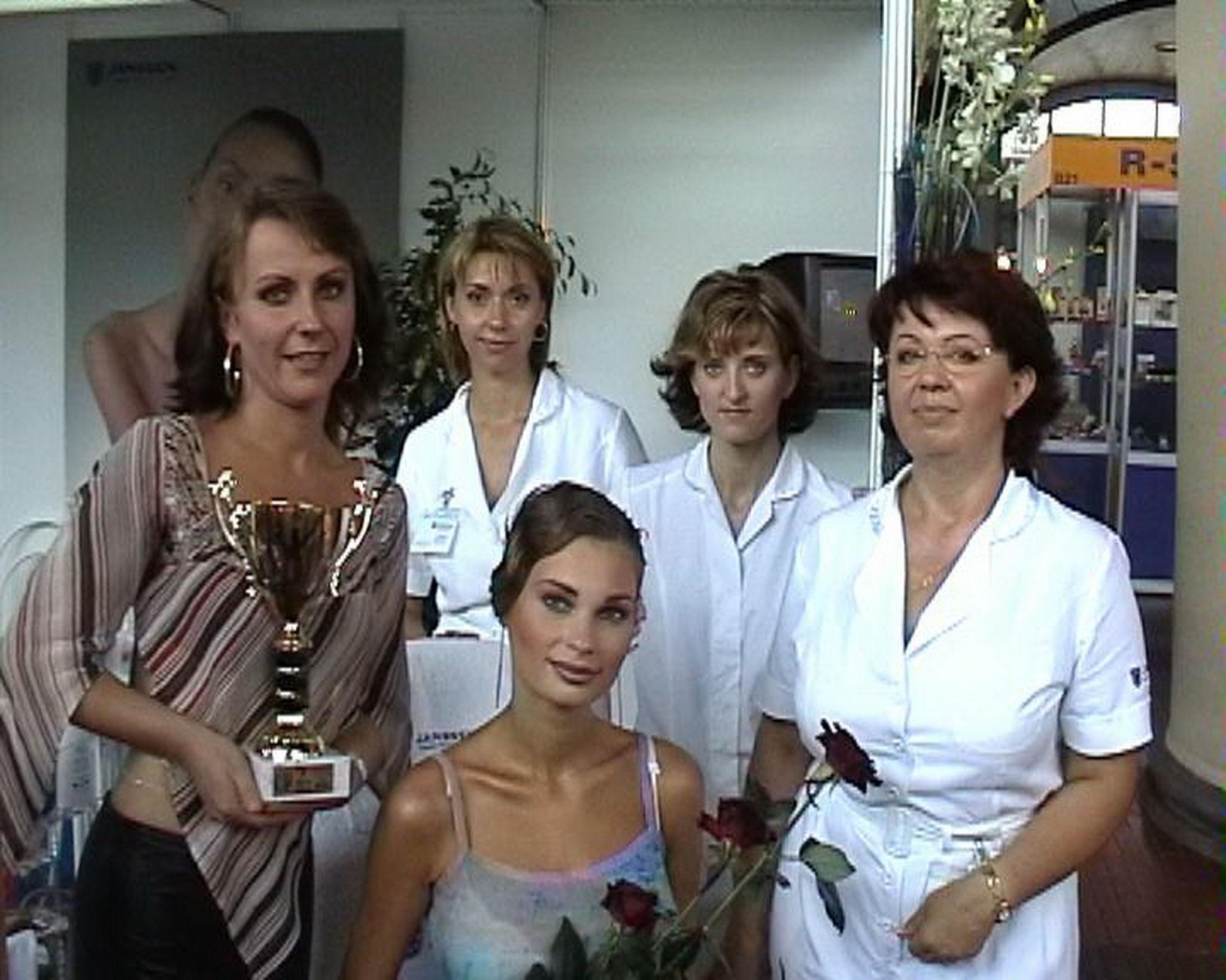 Bohumilas Team auf der Messe Prag 2002