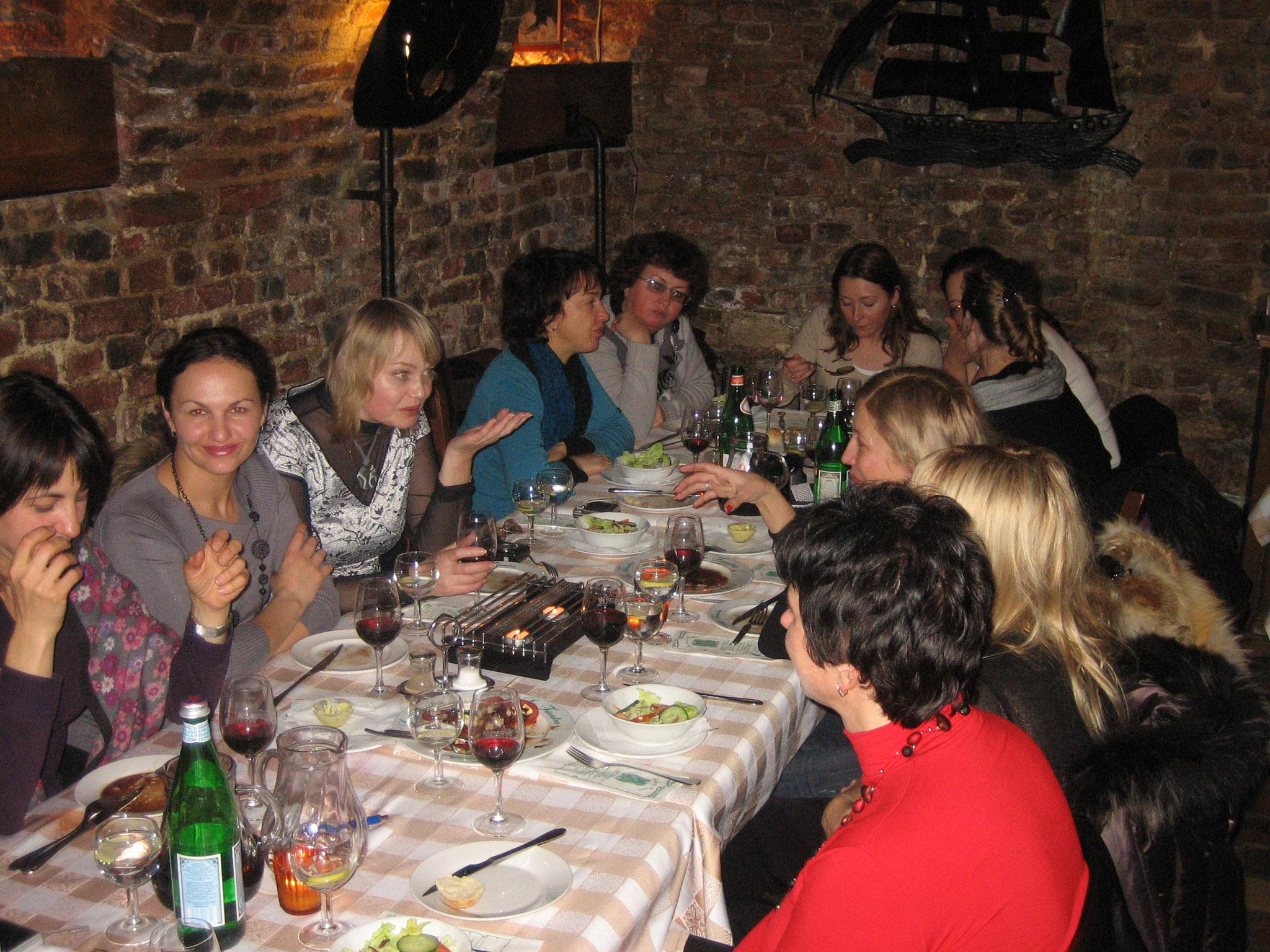 """Russische Gäste in """"La Finestra"""""""
