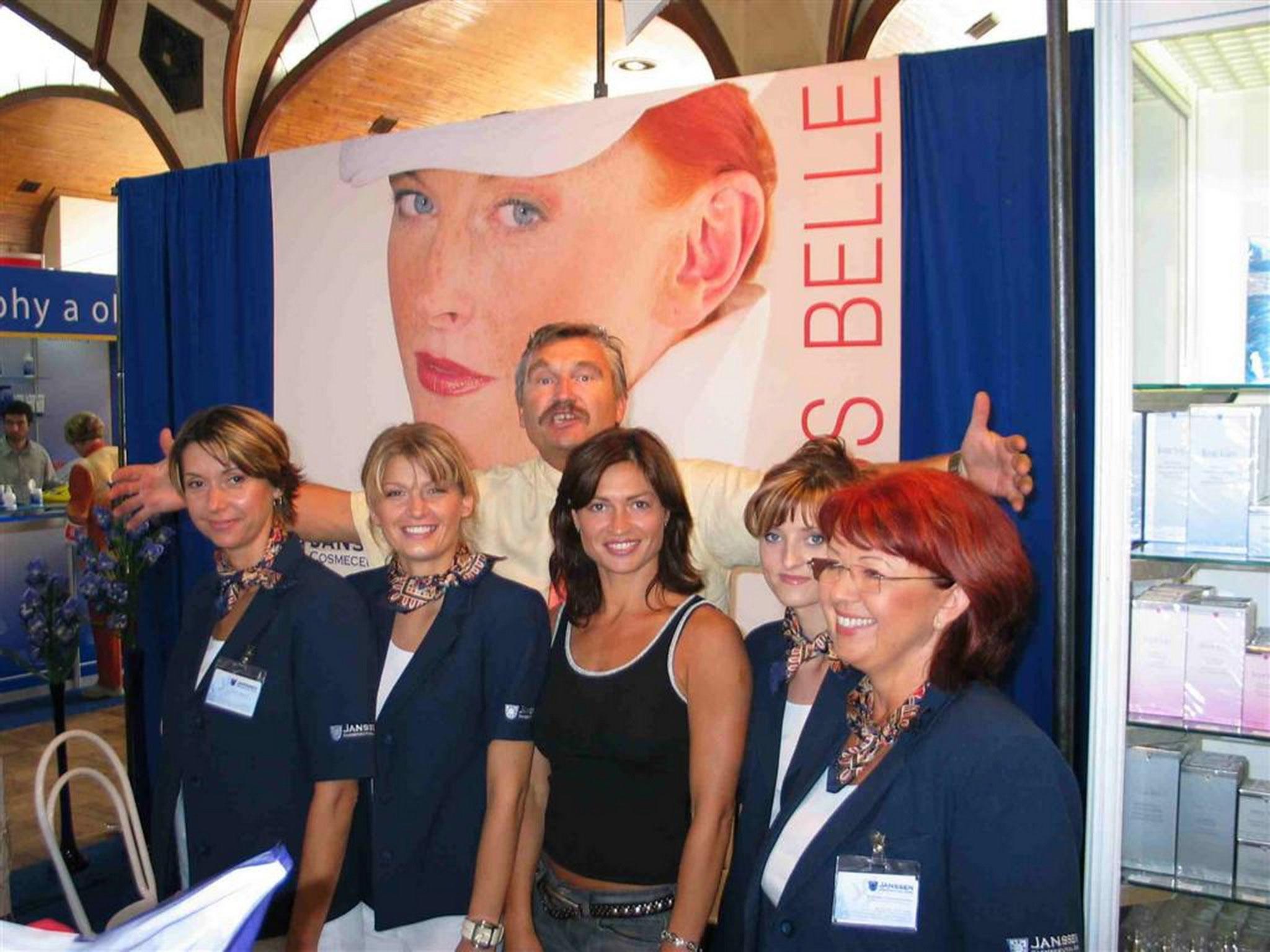 Team Bohumila with Danica at Prag Beauty 2004