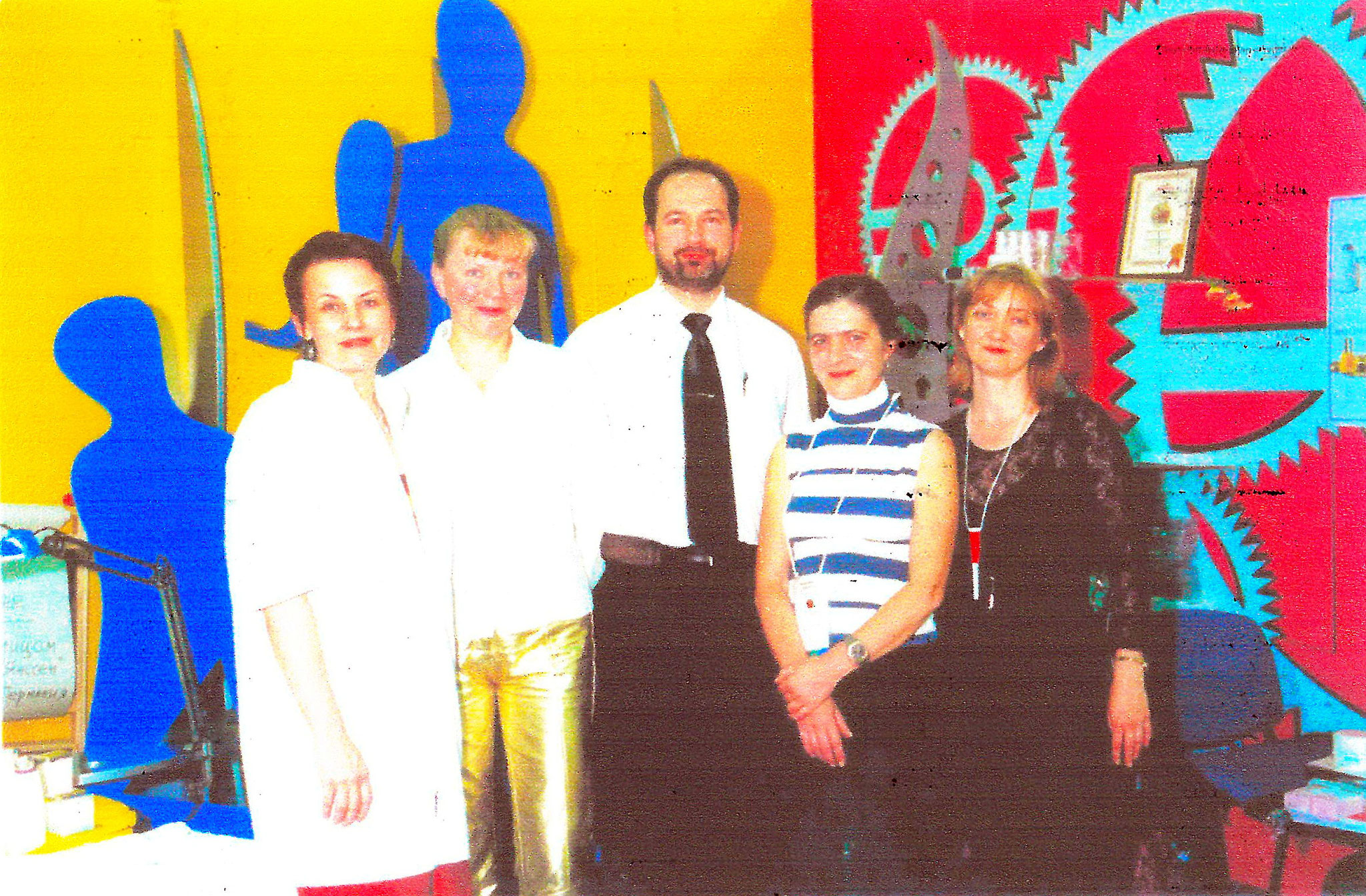 Erste Messe April 2001 in Moskau mit Lena und Tatyana