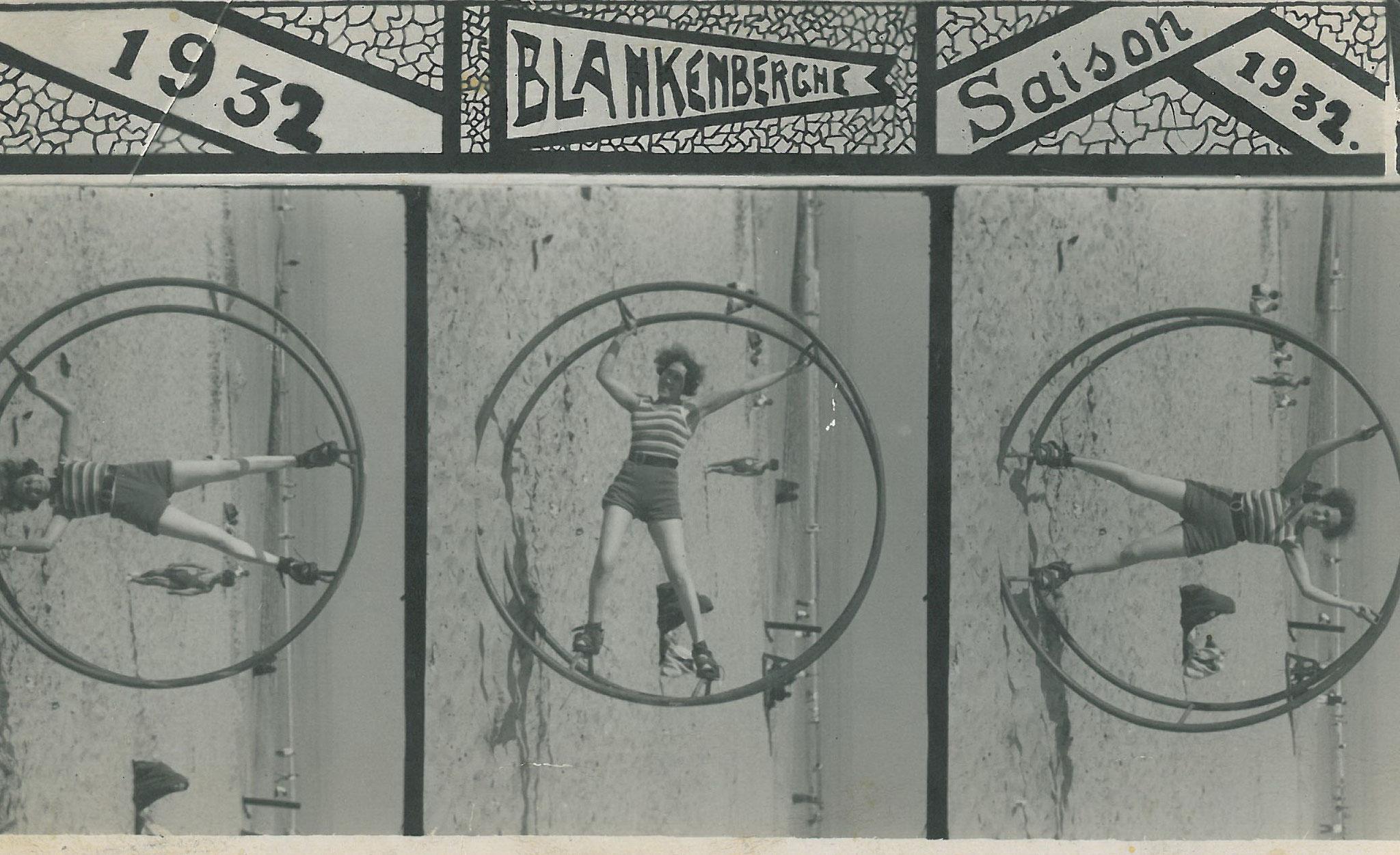 Martha im Rönrad in Blankenberge 1932