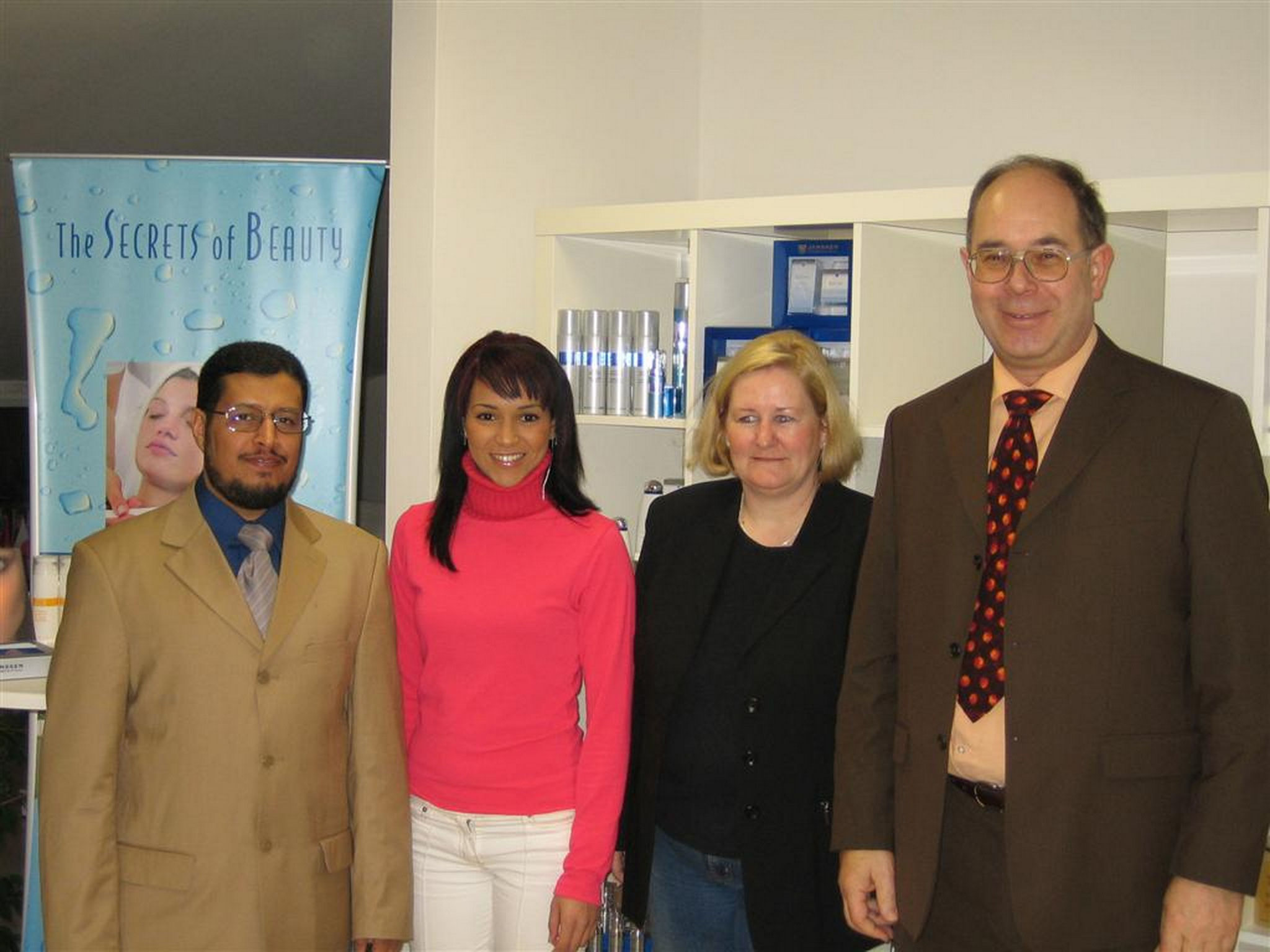 Naser al-Harbi in Aachen with Bouchra and mrs. Murmann