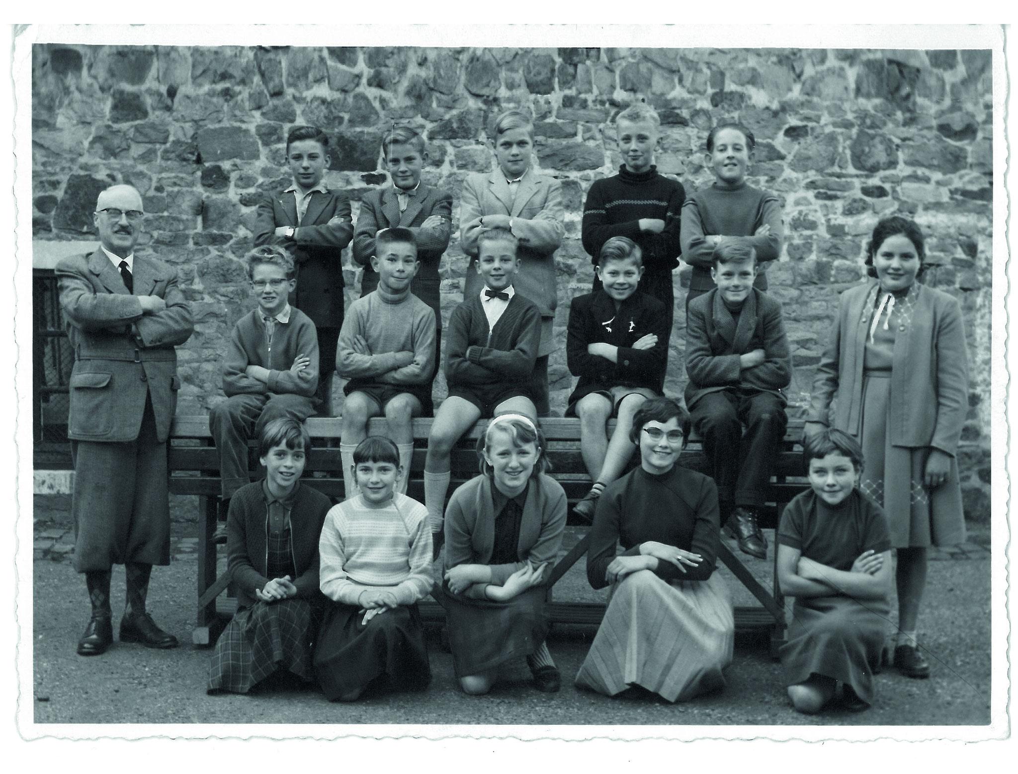 Abschlussklasse bei Jules Cravatte 1959