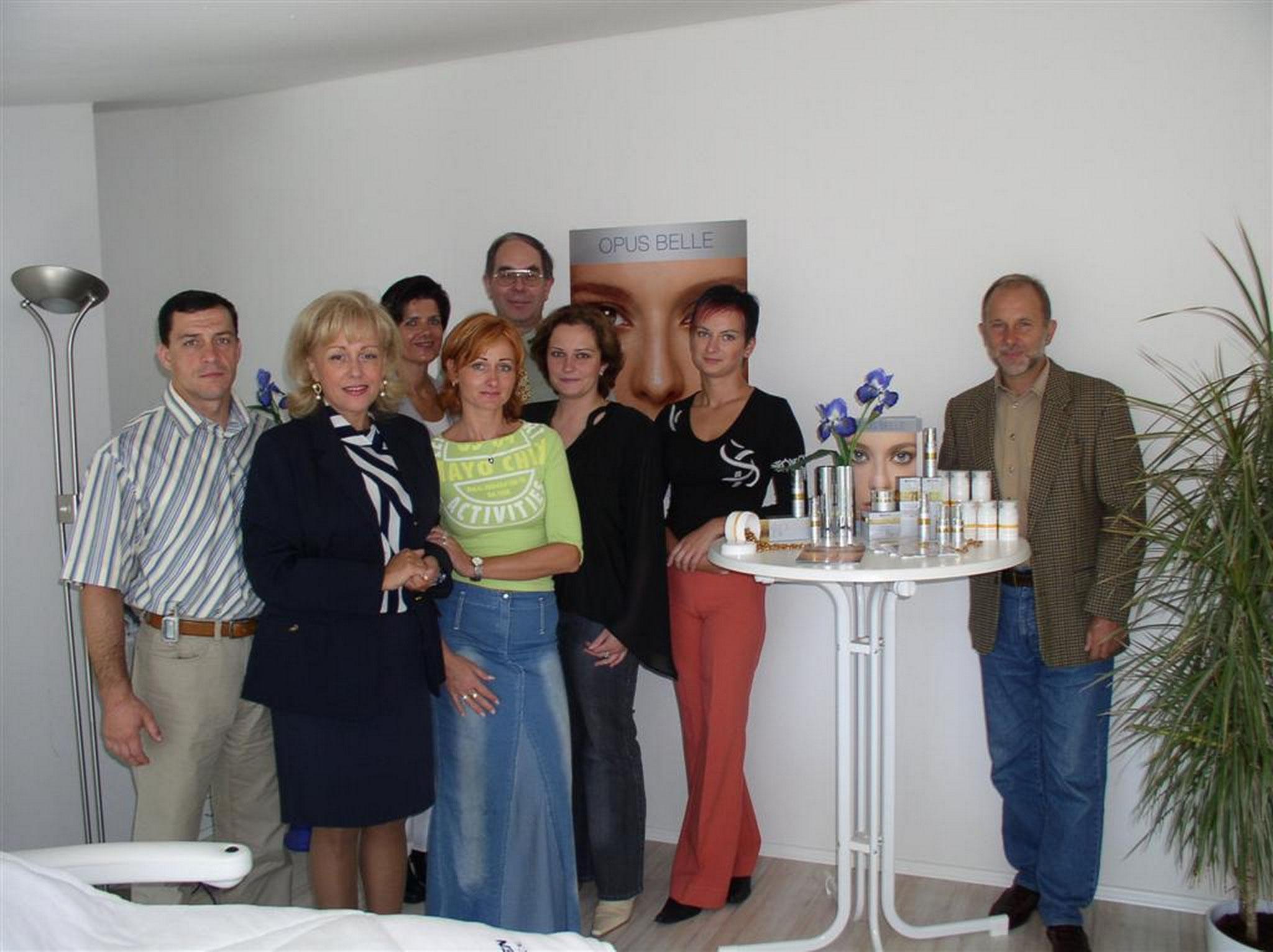 Danka Kosakova from Slovakia in Aachen 2004 and Dr. Sacher
