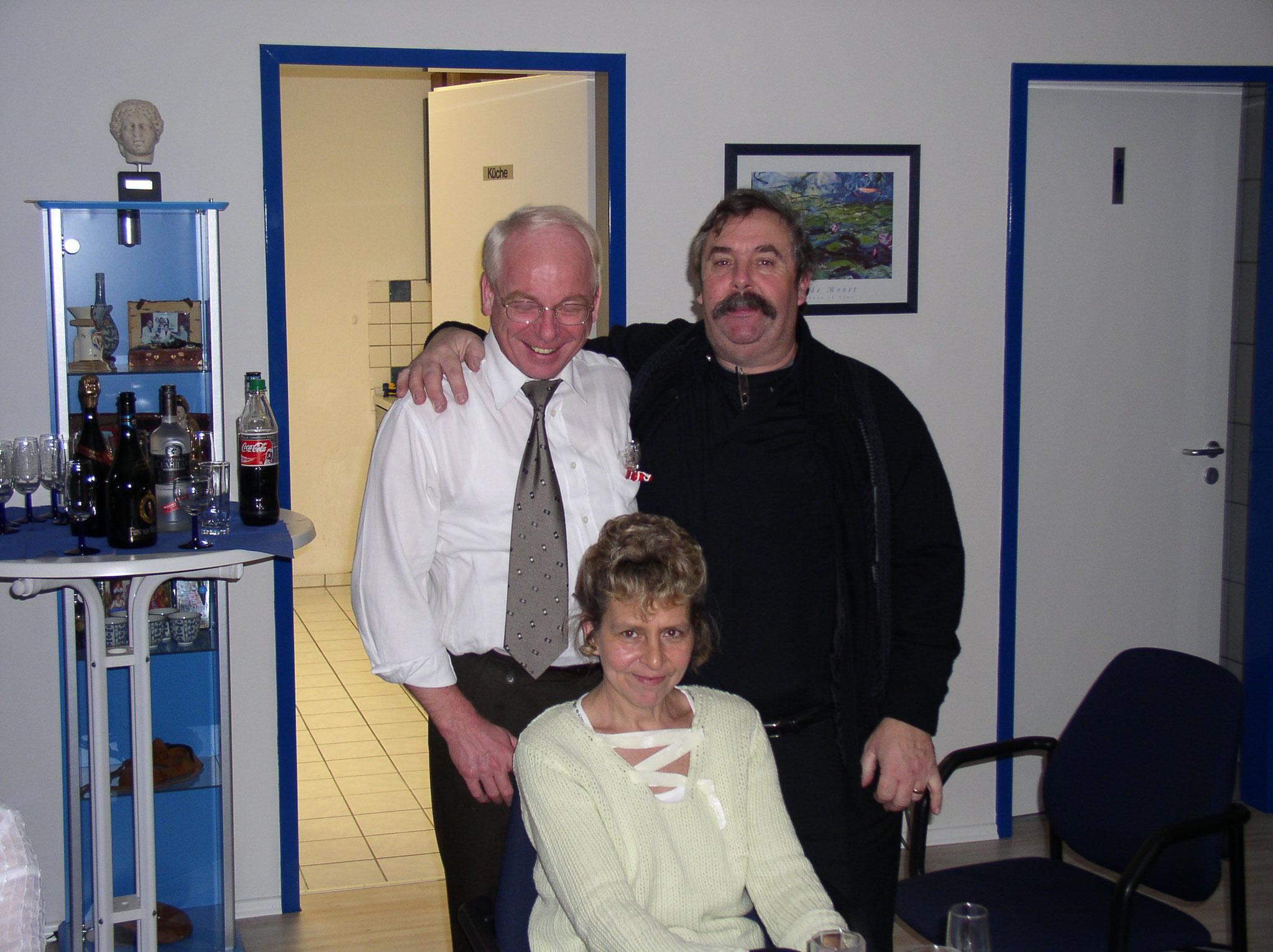 Josef mit Jean Pierre und Trudi Weihnachten 2003