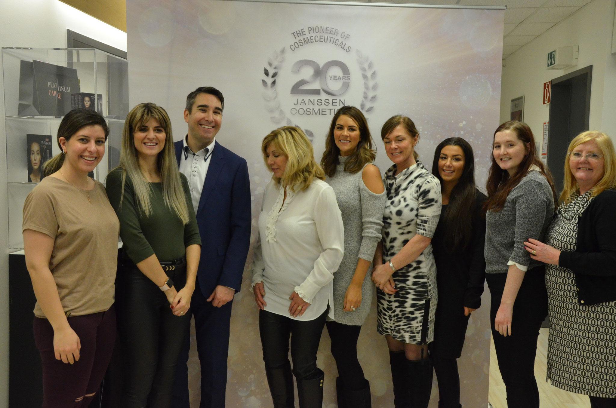 Krestyna mit Kunden in Aachen 2017