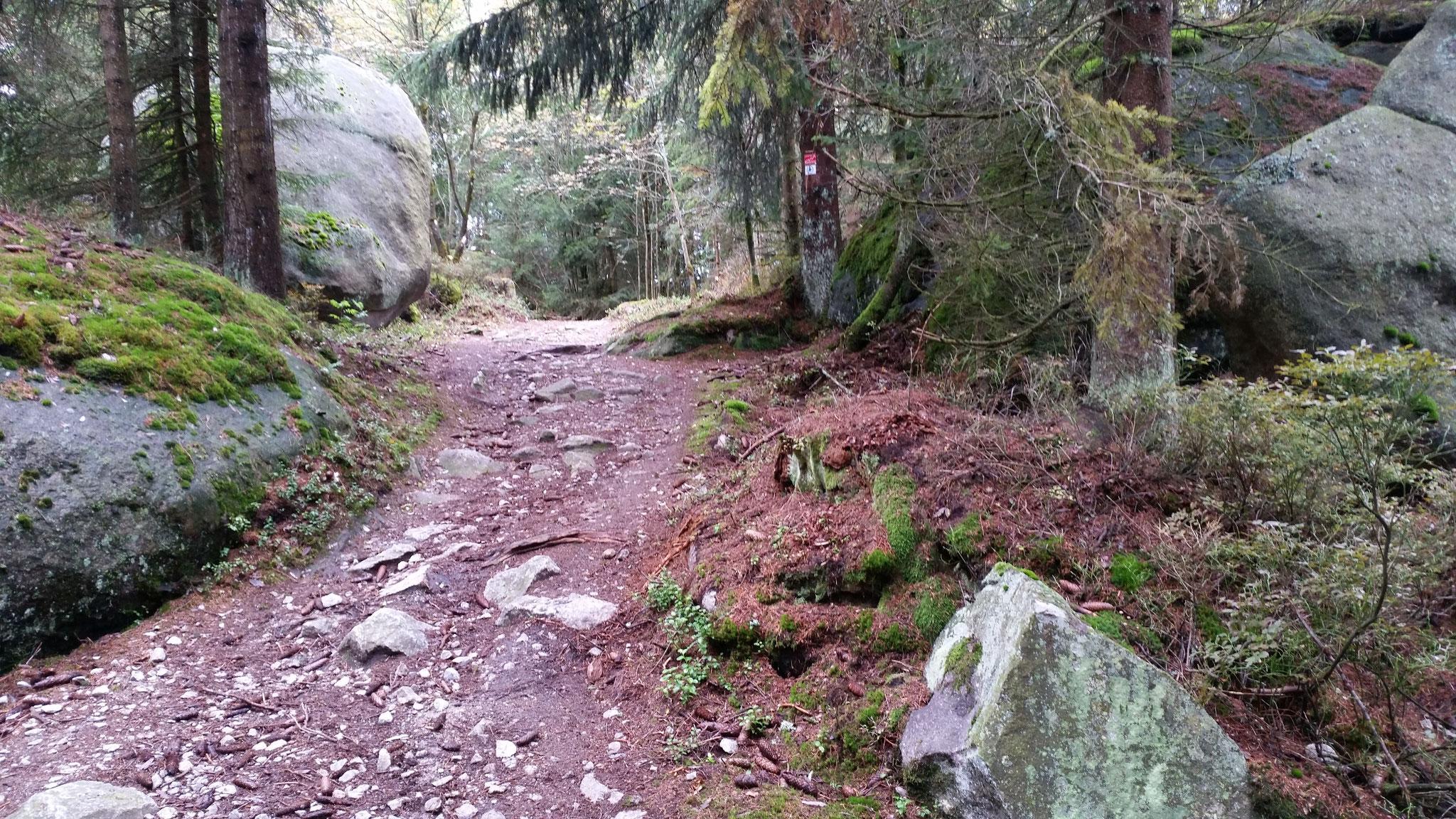 Wanderweg zum Kaiserfelsen...