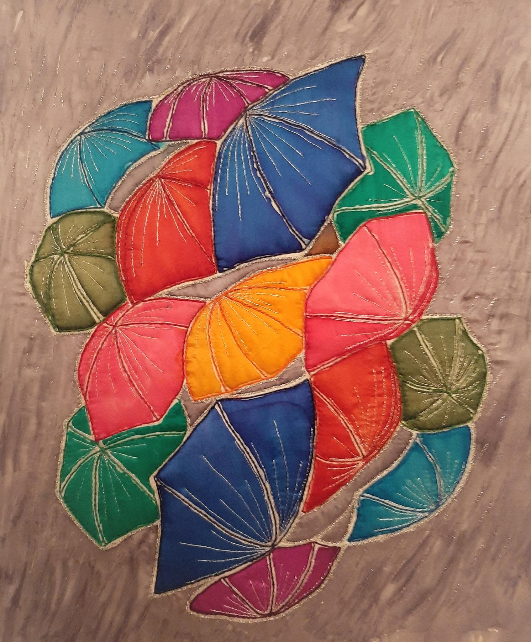 Greet Hansma zijdeschilderen en borduren