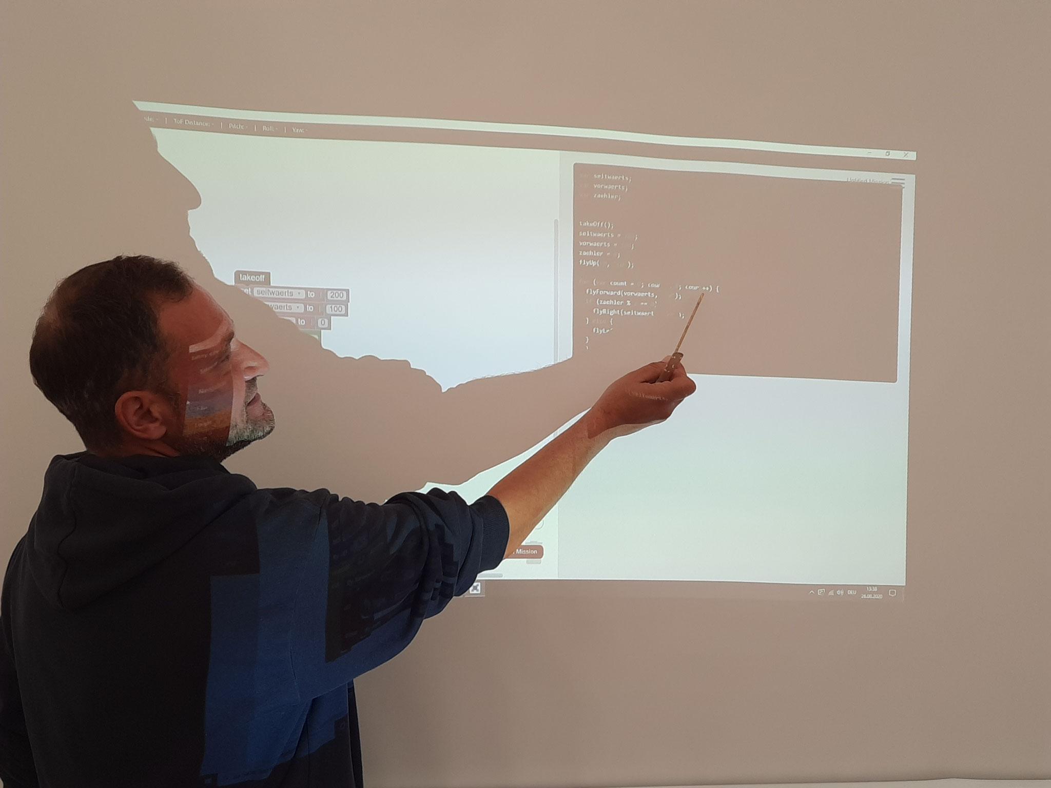 Branco erklärt den Programmierungscode