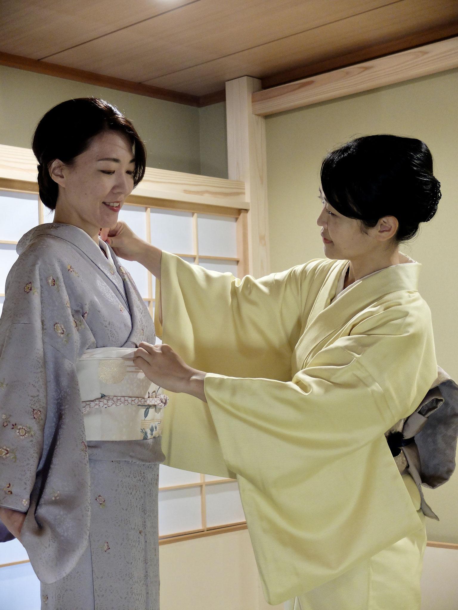 Kimono:  para vestirse Kimono a si mismo