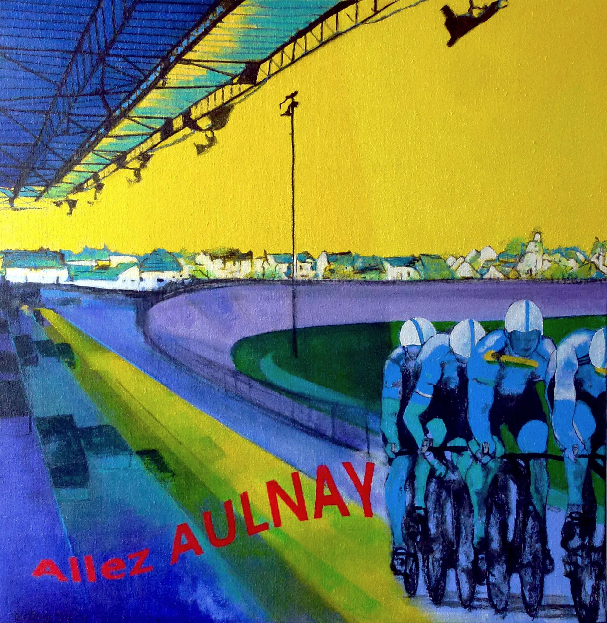 Allez Aulnay - Acrylique sur toile - Victoria NILS