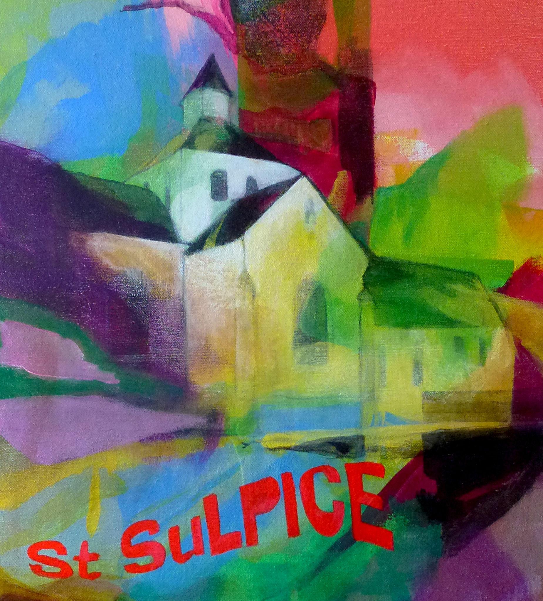Saint Sulpice - Acrylique sur toile - Victoria NILS